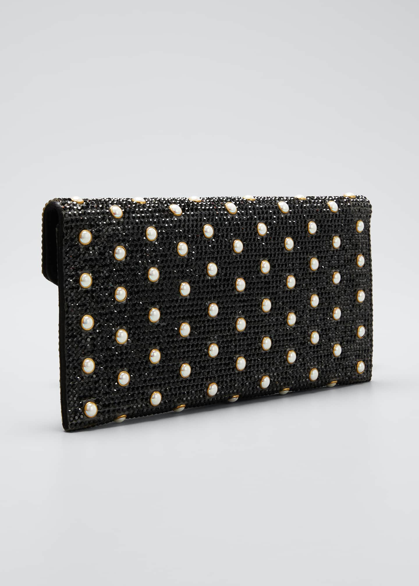 Image 3 of 5: Envelope Pearly Beaded Clutch Bag