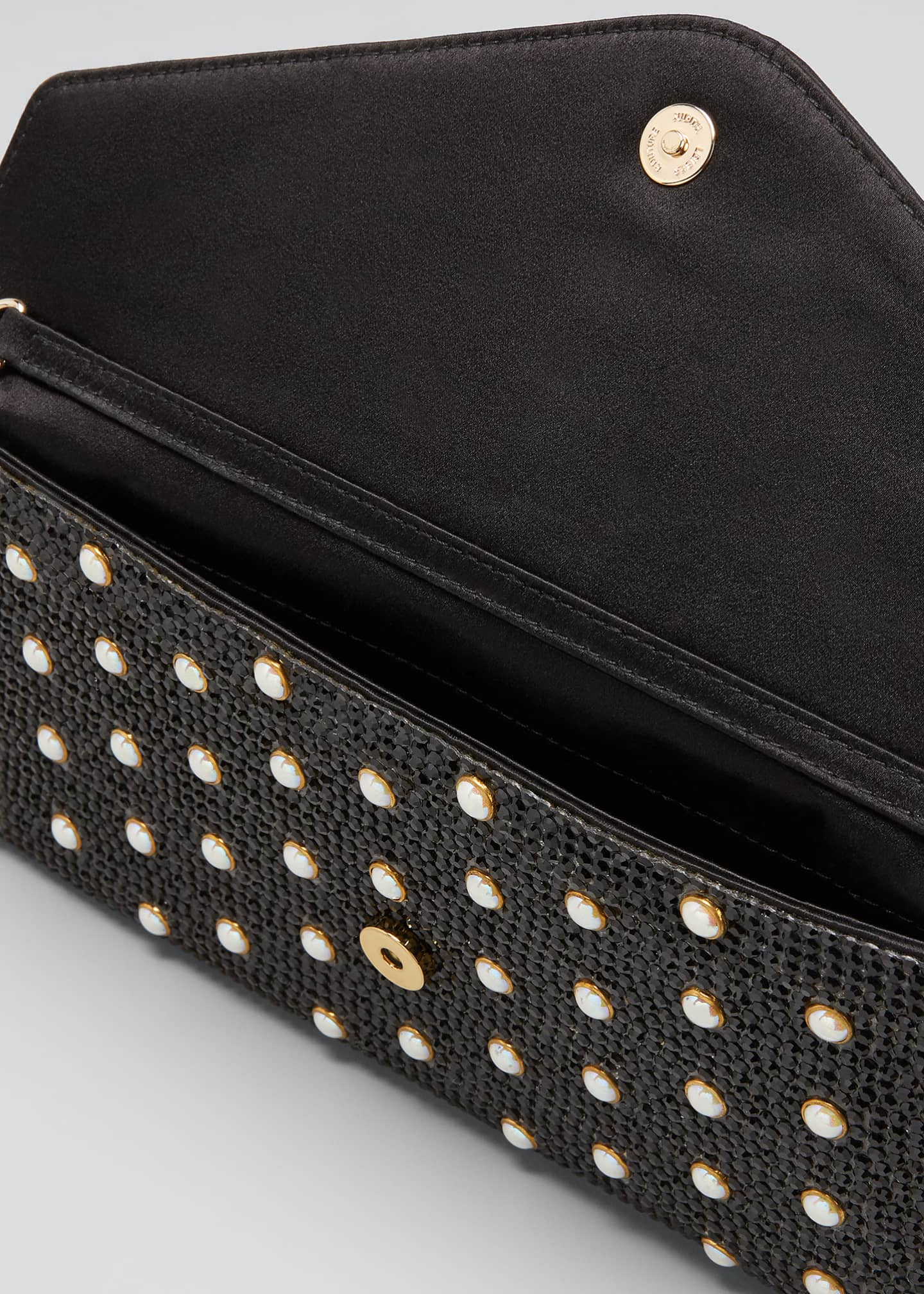 Image 4 of 5: Envelope Pearly Beaded Clutch Bag