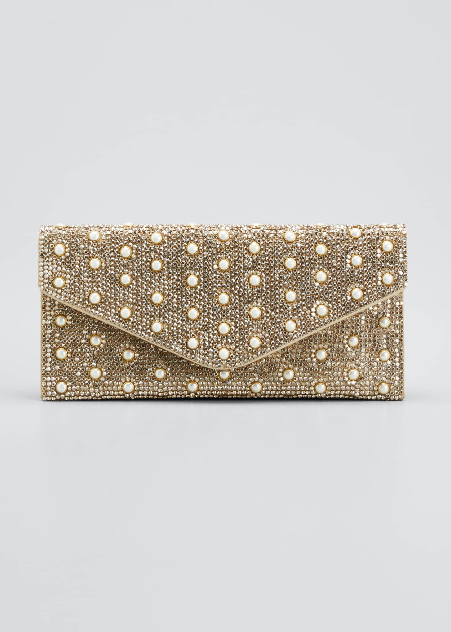 Image 1 of 5: Envelope Pearly Beaded Clutch Bag