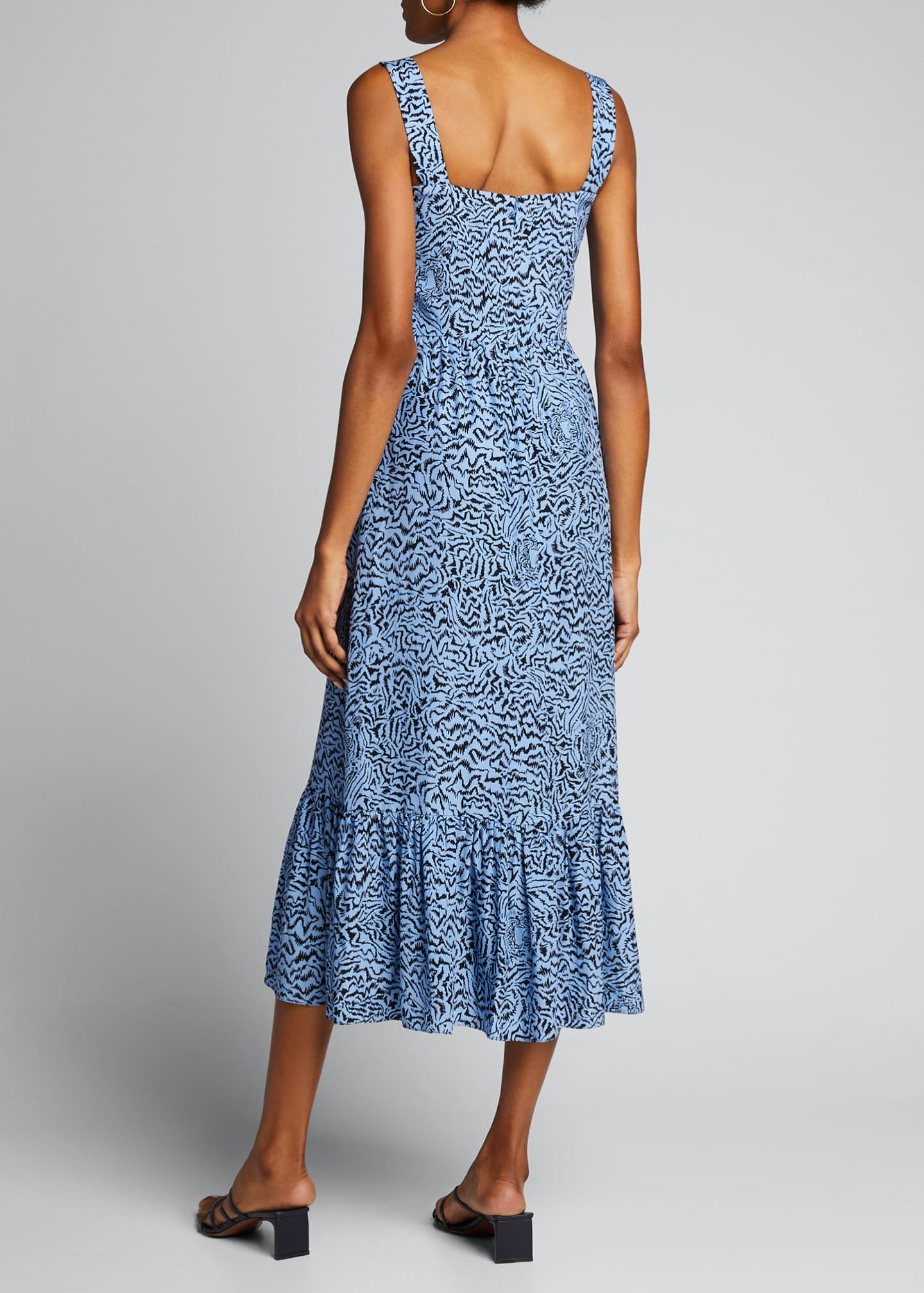 Image 2 of 5: Olympia Printed Sleeveless Gown with Ruffle Hem