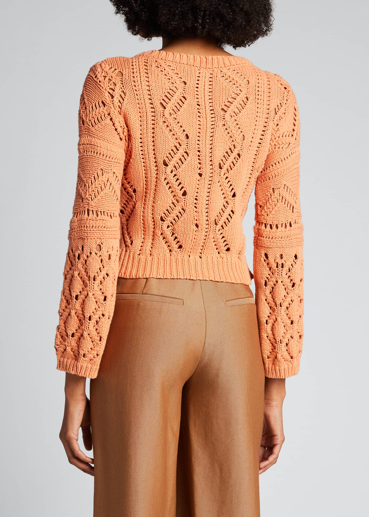 Image 2 of 5: Madelyn Directional Rib Cropped Sweater