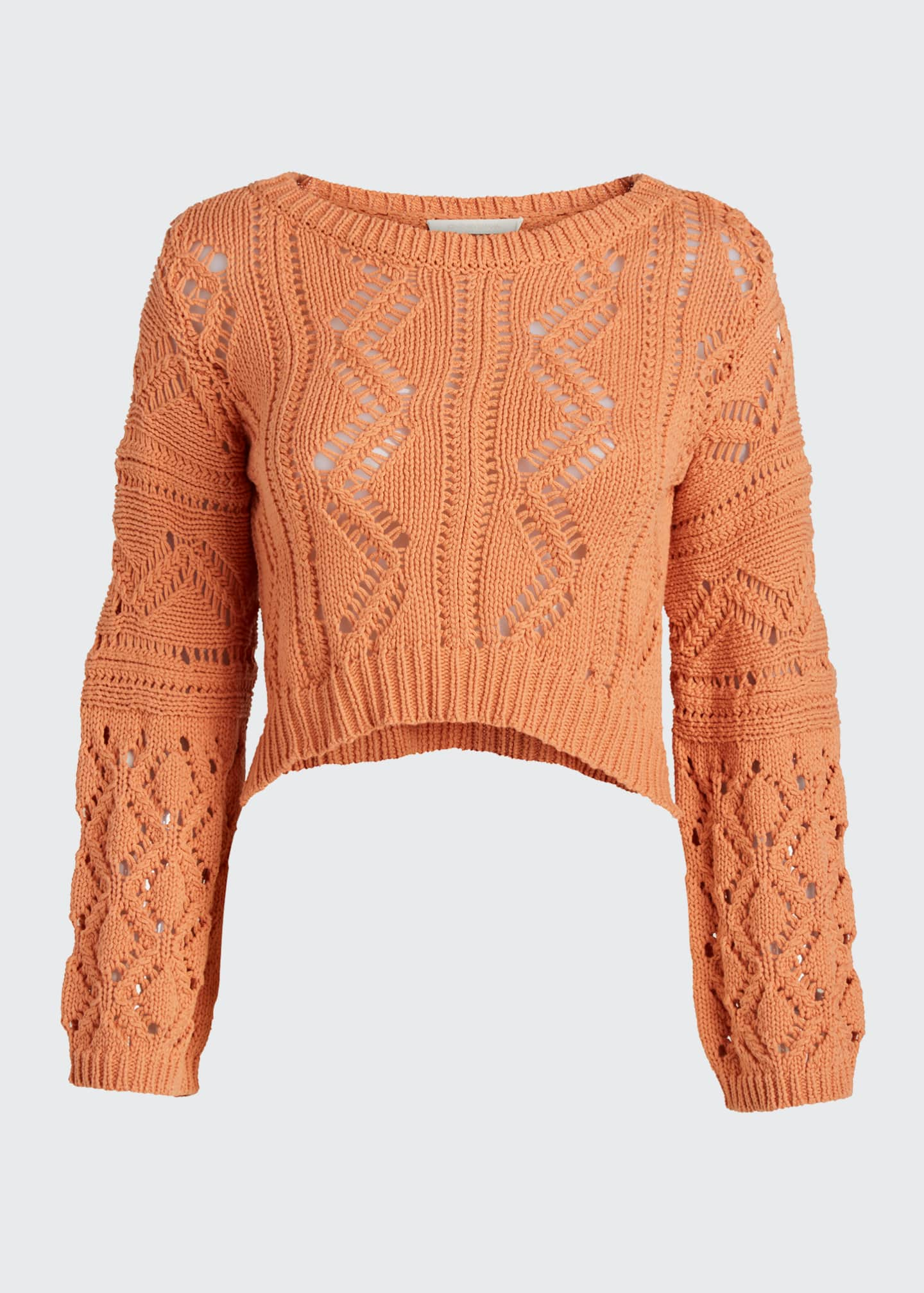Image 5 of 5: Madelyn Directional Rib Cropped Sweater