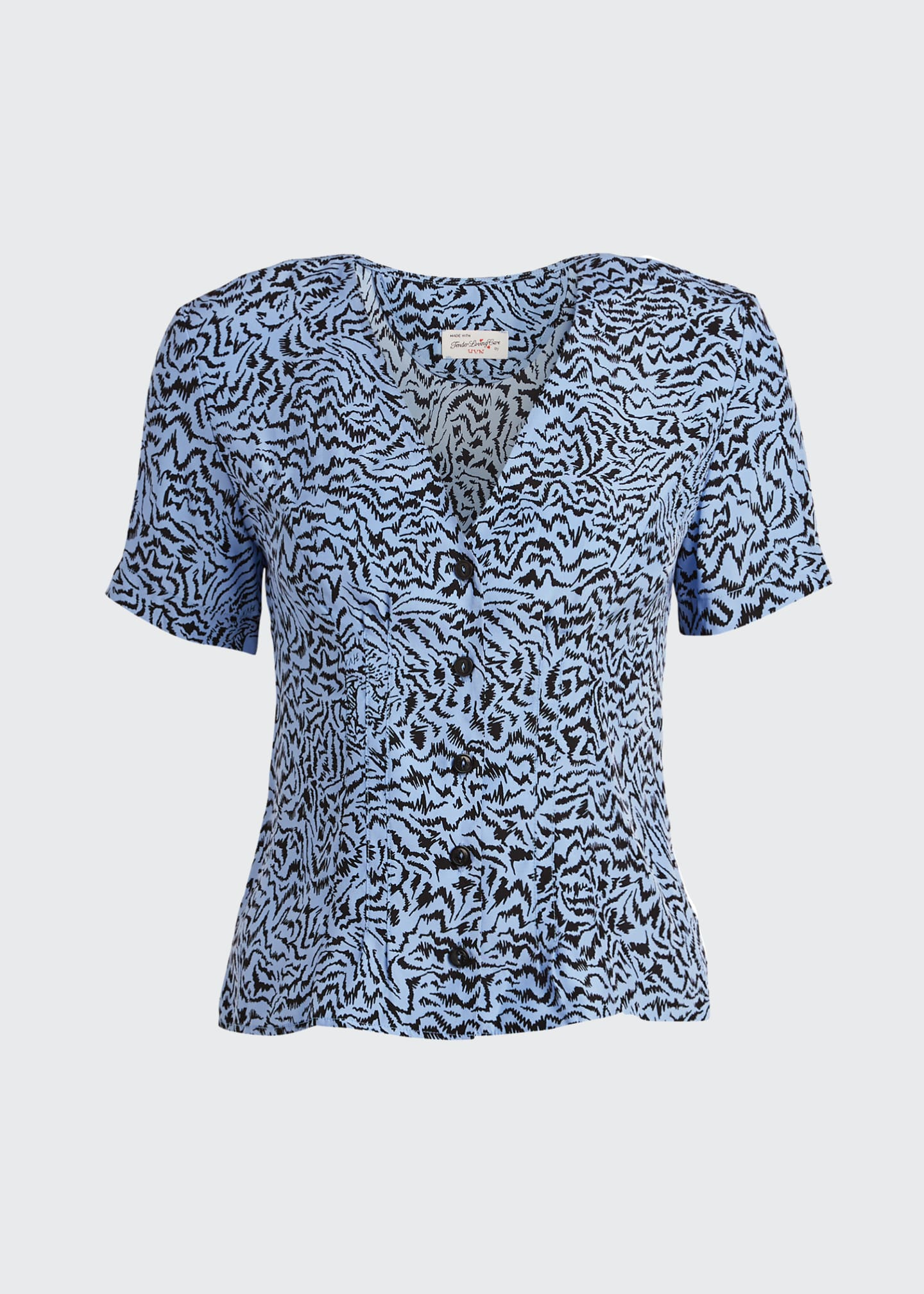 Image 5 of 5: Dylan Printed Short-Sleeve Top