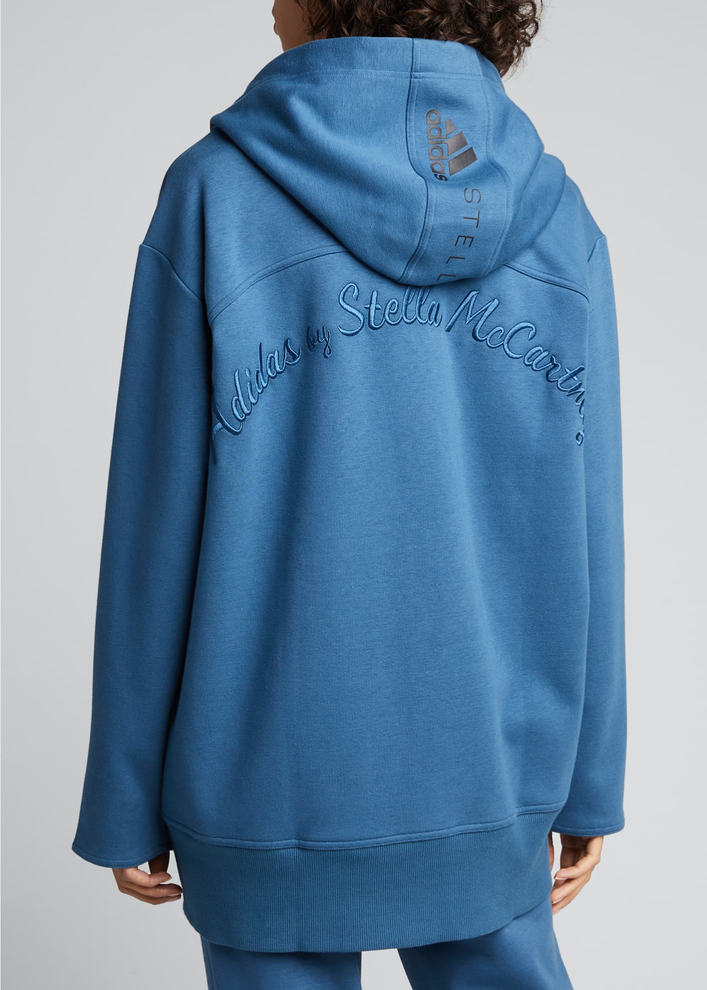 Image 2 of 5: Oversized Embroidered Hoodie Jacket