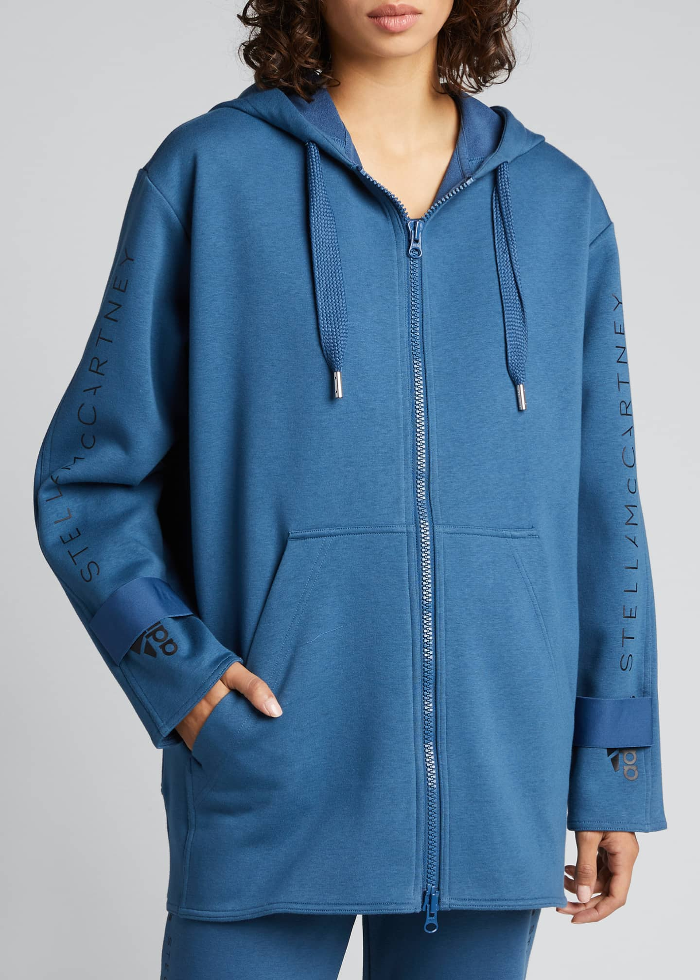 Image 3 of 5: Oversized Embroidered Hoodie Jacket