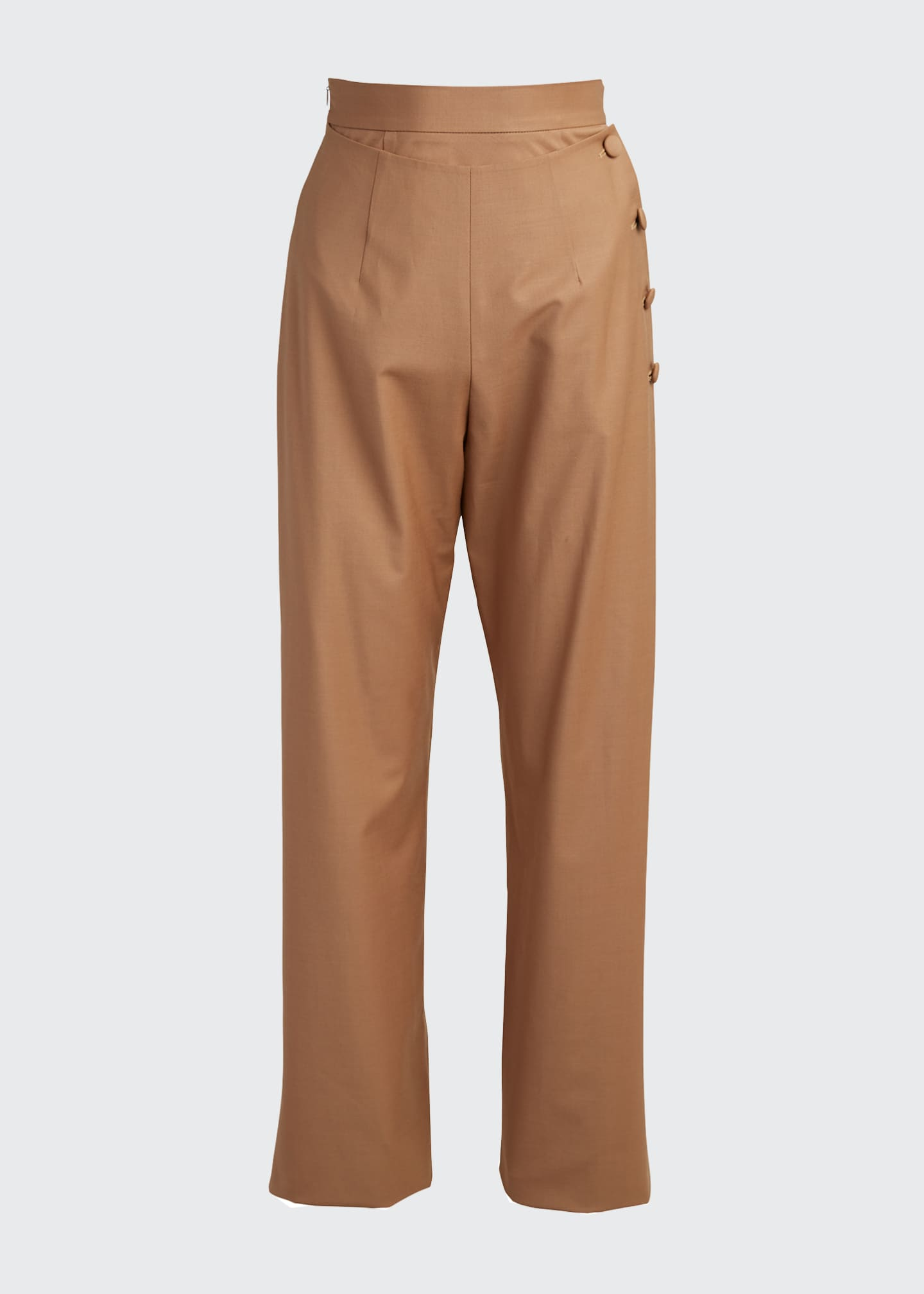 Image 5 of 5: Side-Button Pants