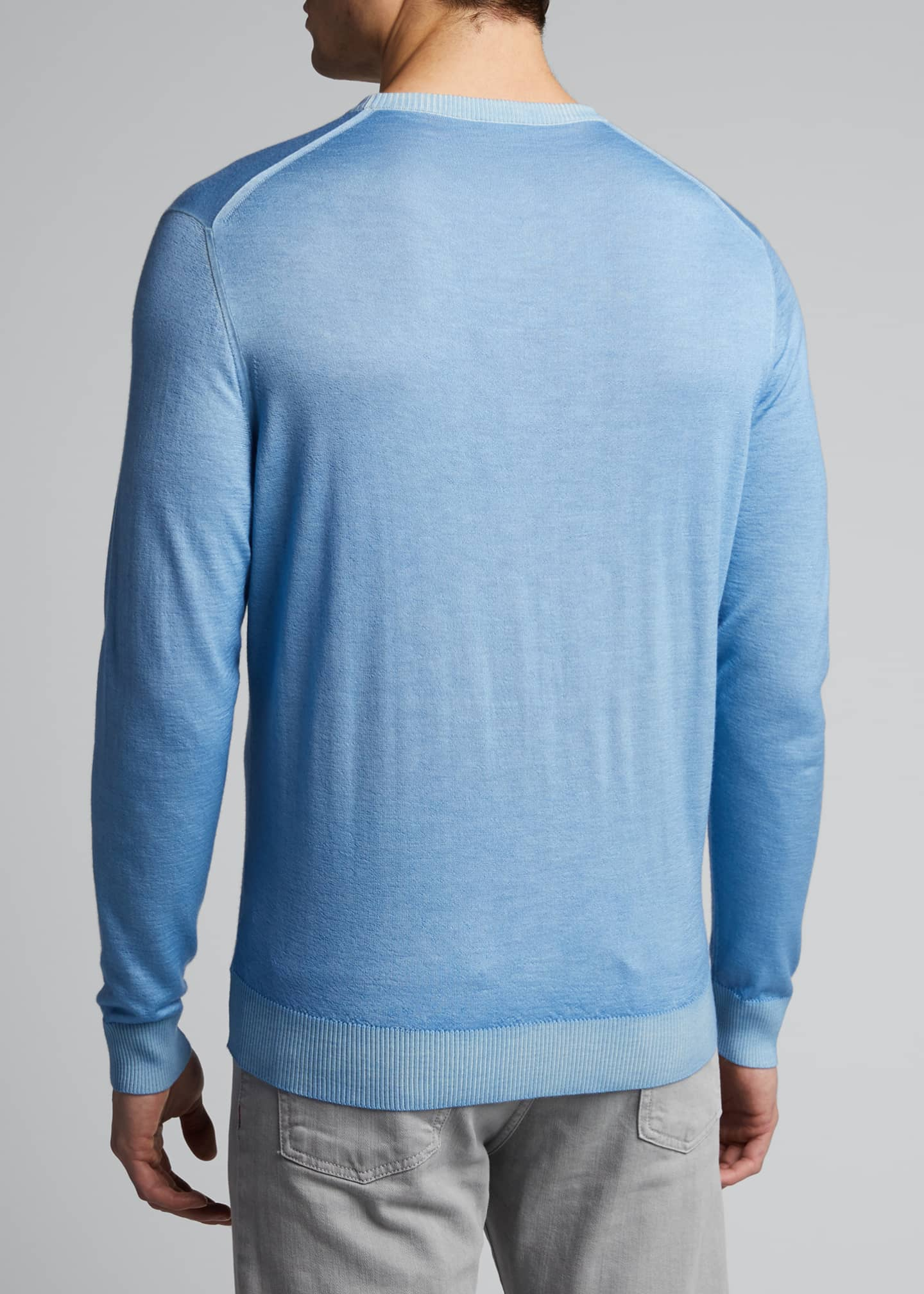Image 2 of 5: Men's Washed Cashmere-Cotton Sweater