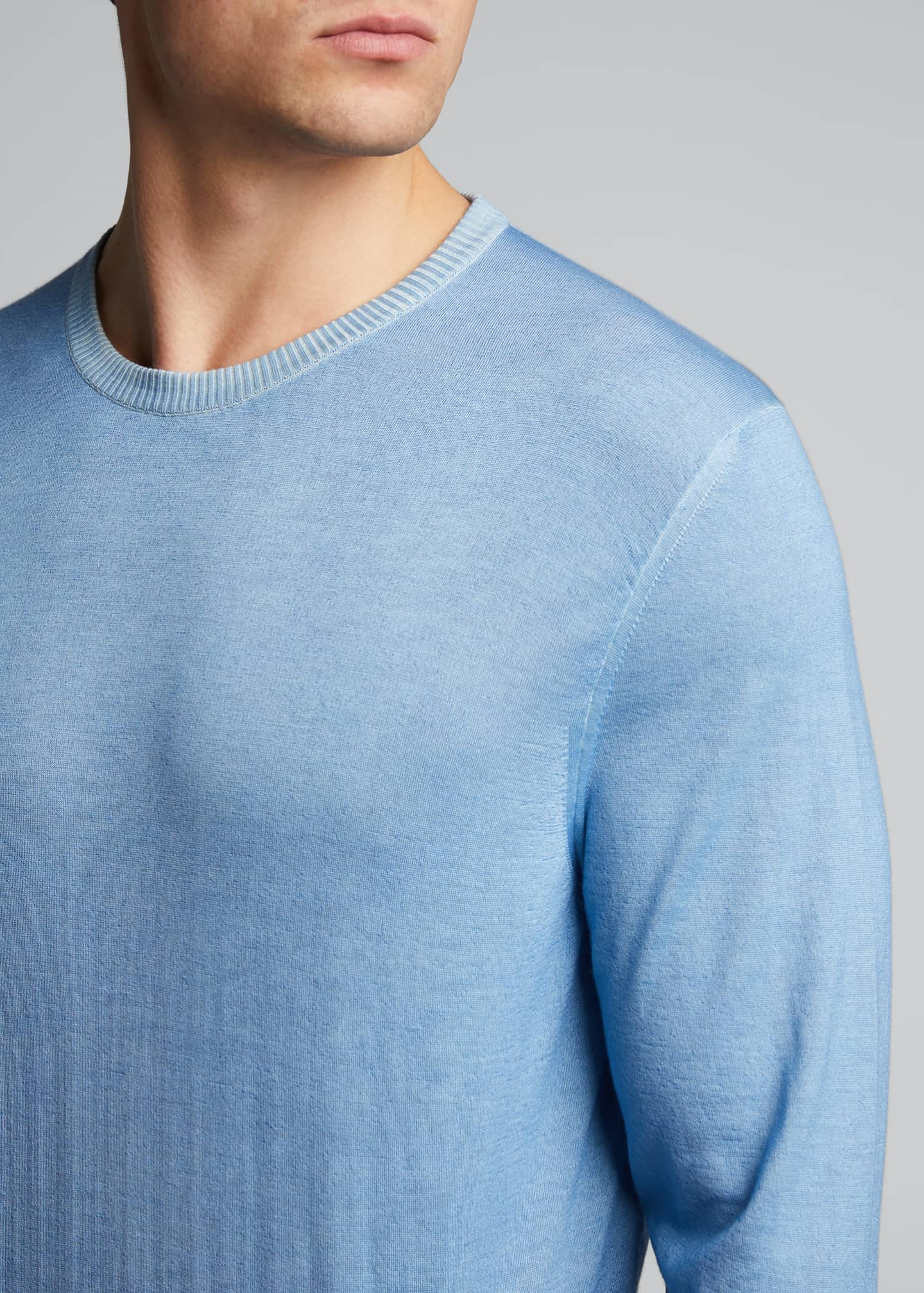 Image 4 of 5: Men's Washed Cashmere-Cotton Sweater