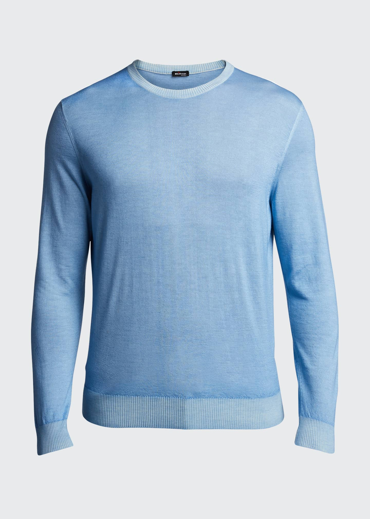 Image 5 of 5: Men's Washed Cashmere-Cotton Sweater
