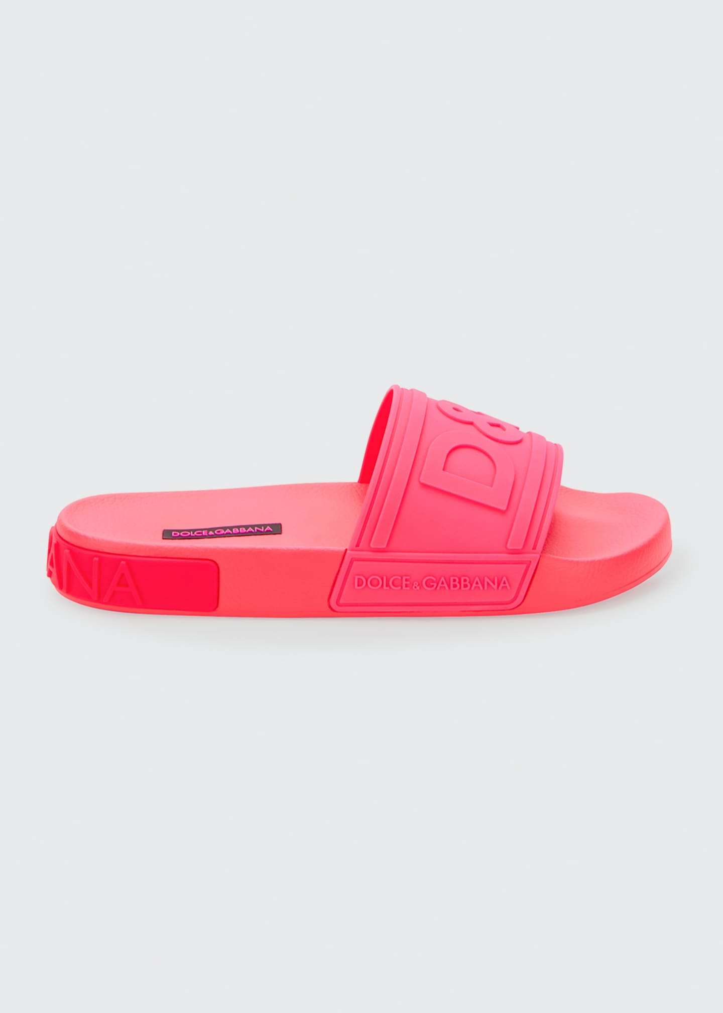 Image 1 of 4: DG Logo Rubber Slide Sandals