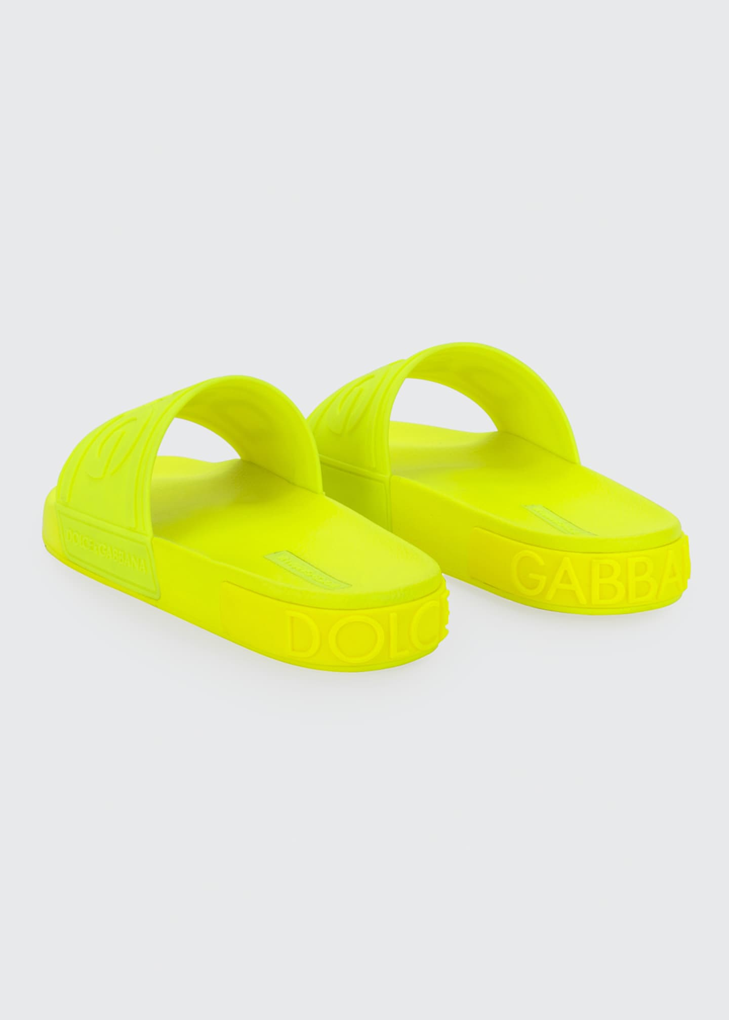 Image 3 of 4: DG Logo Rubber Slide Sandals