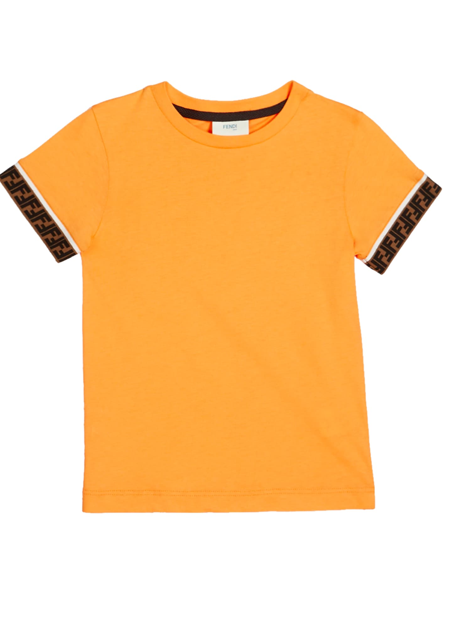 Image 1 of 1: Boy's Short-Sleeve T-Shirt w/ Logo Taping, Size 8-14
