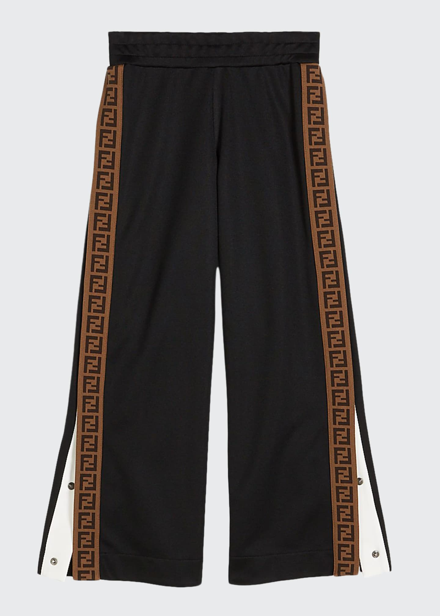 Image 1 of 1: Boy's Track Pants with Logo Side-Trim, Size 8-14