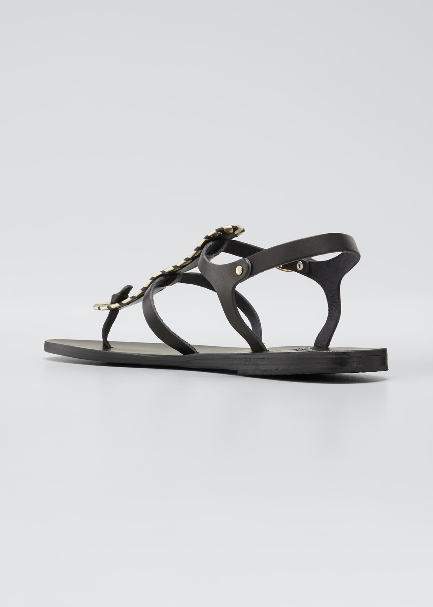 Image 4 of 5: Erianna Flat Thong Sandals