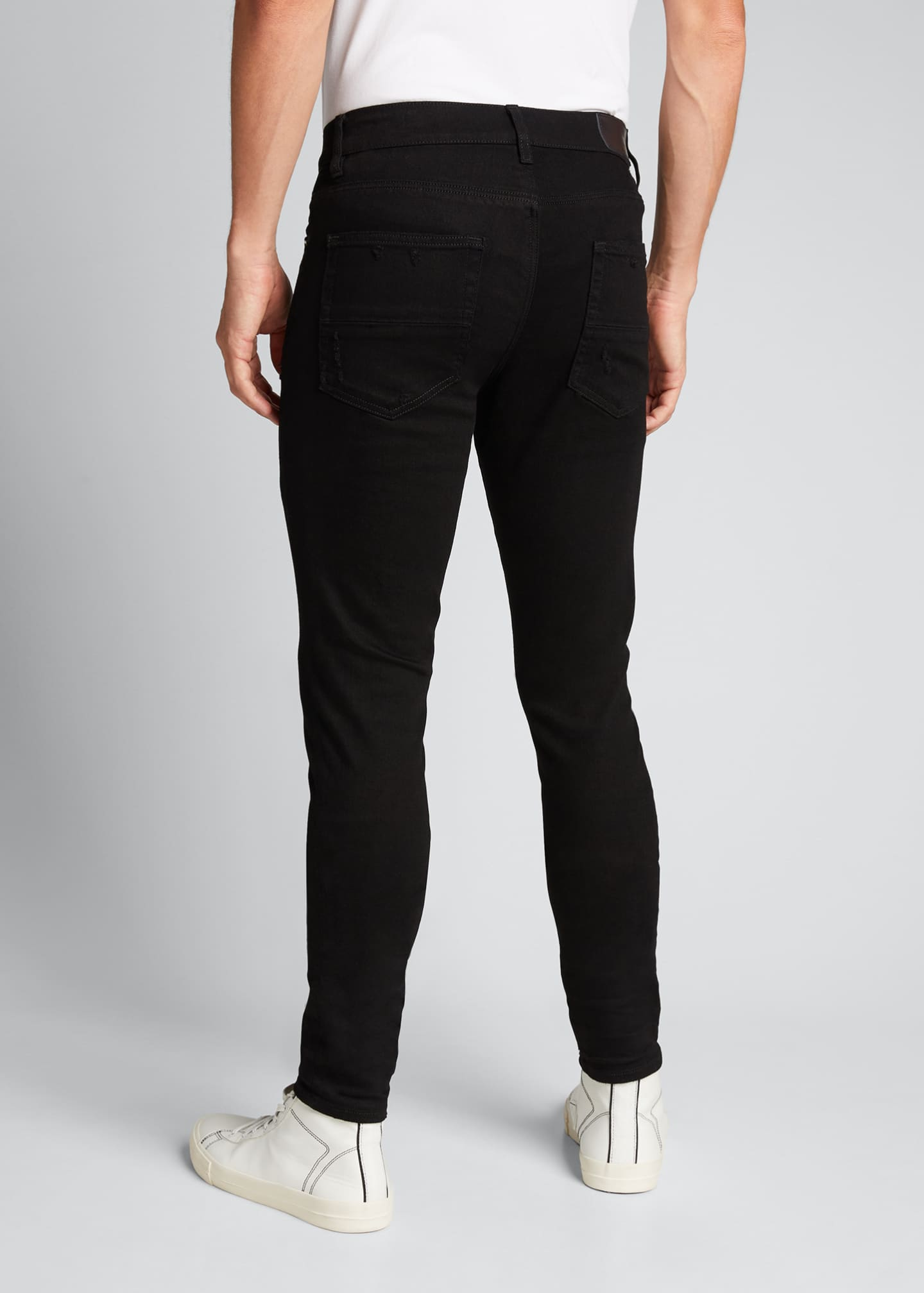 Image 2 of 5: Men's Stack Dark-Wash Slim Jeans