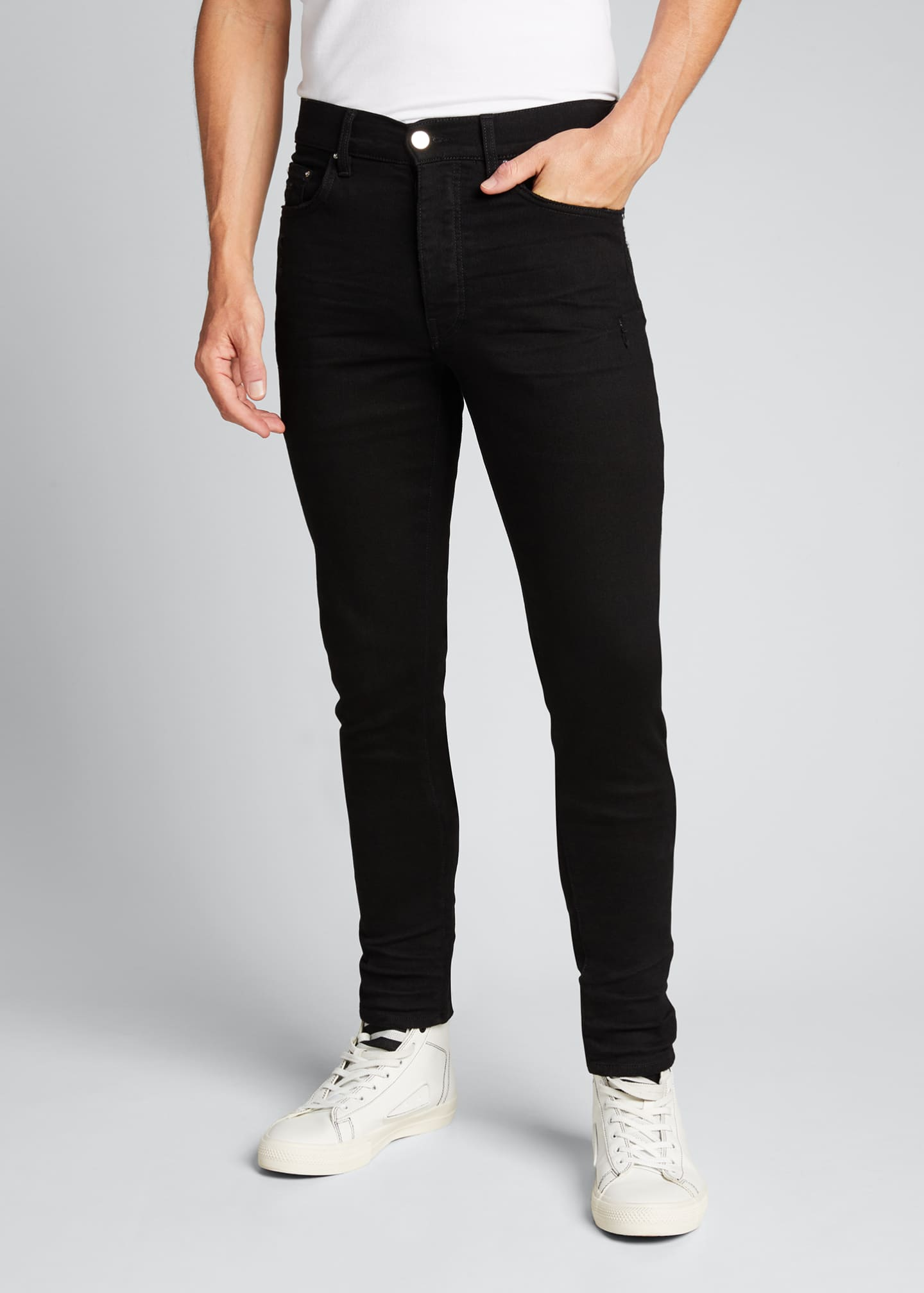 Image 3 of 5: Men's Stack Dark-Wash Slim Jeans
