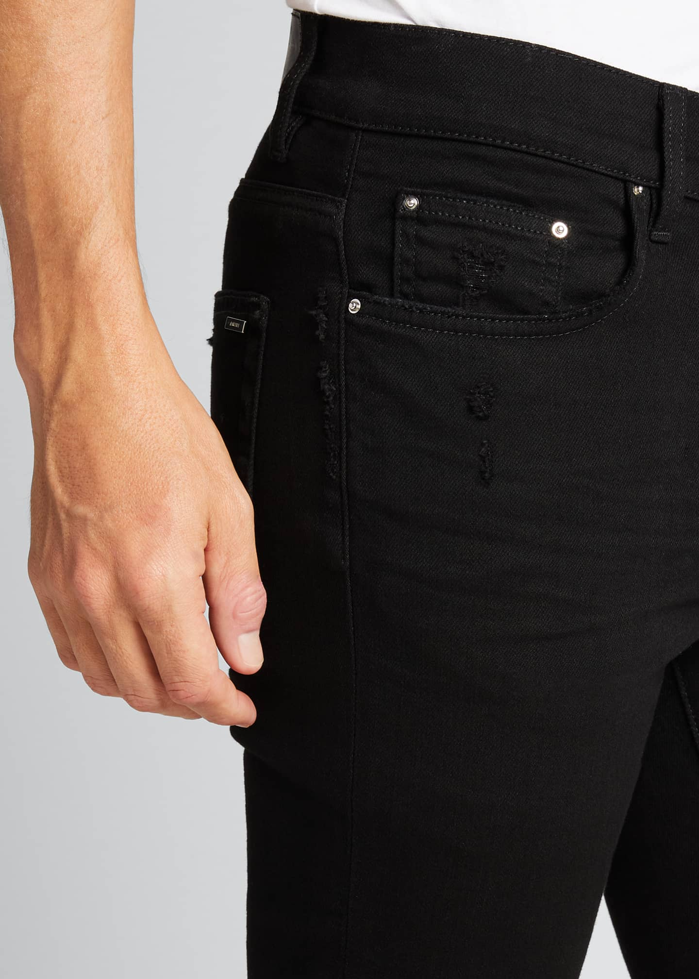 Image 4 of 5: Men's Stack Dark-Wash Slim Jeans