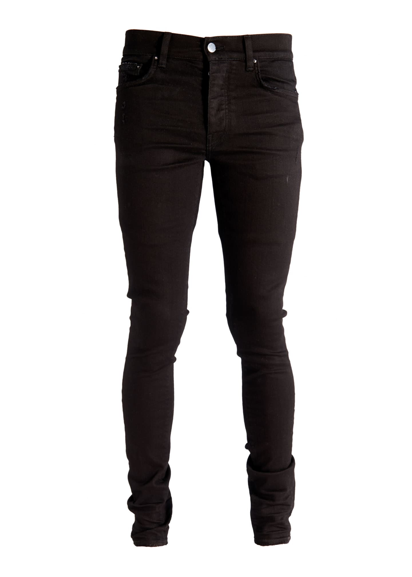 Image 1 of 5: Men's Stack Dark-Wash Slim Jeans