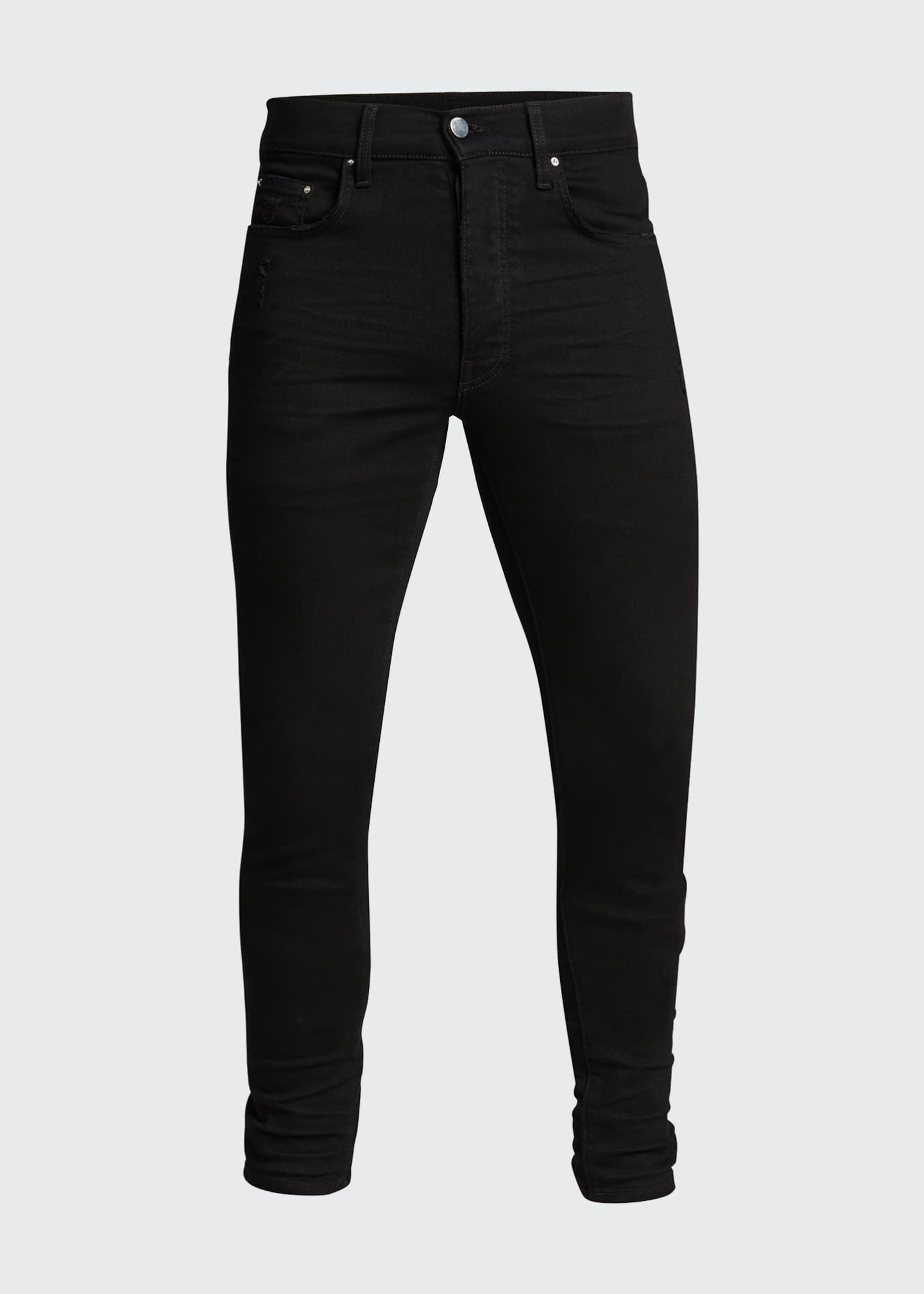 Image 5 of 5: Men's Stack Dark-Wash Slim Jeans