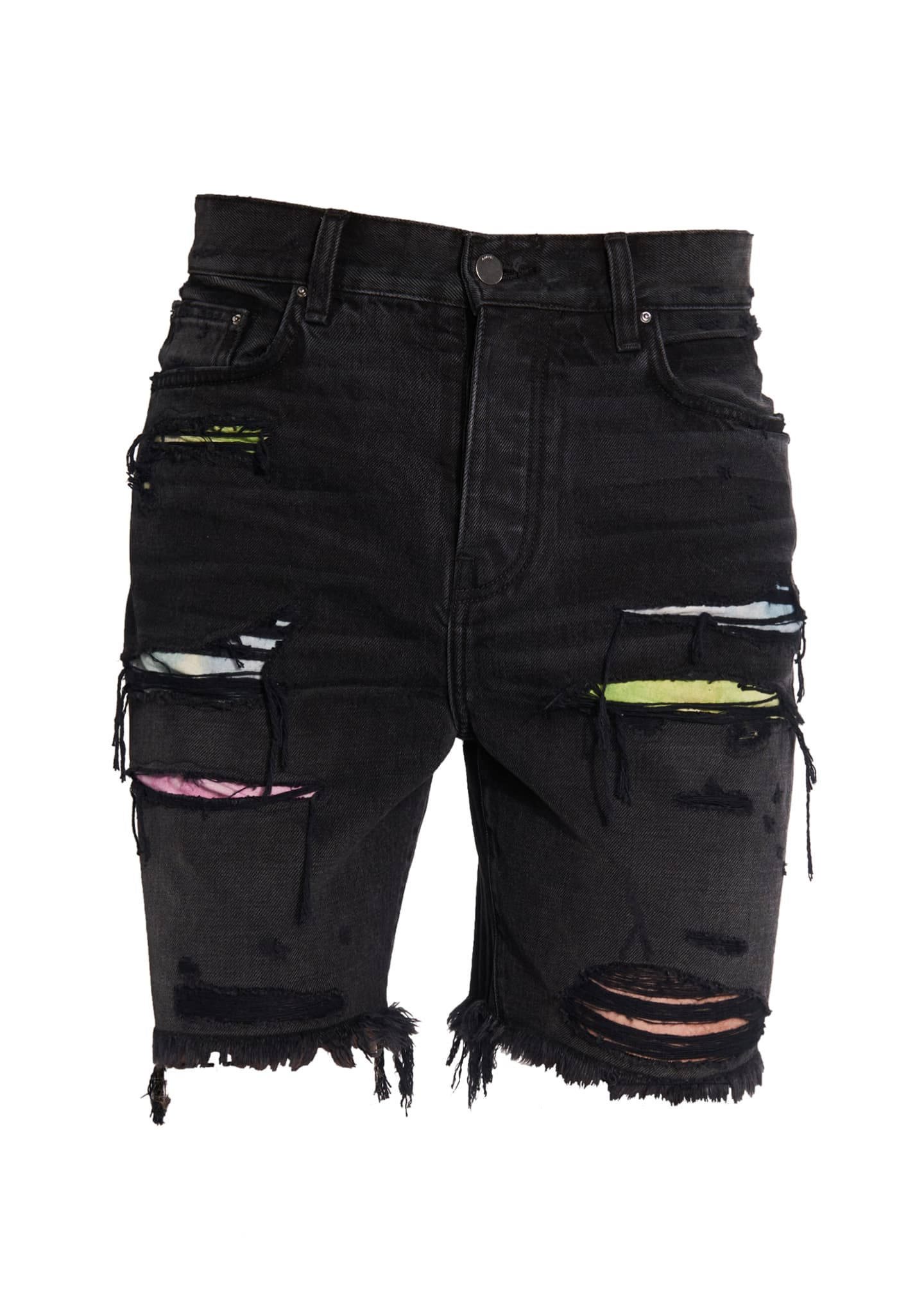 Image 1 of 1: Men's Watercolor Patchwork Thrasher Shorts