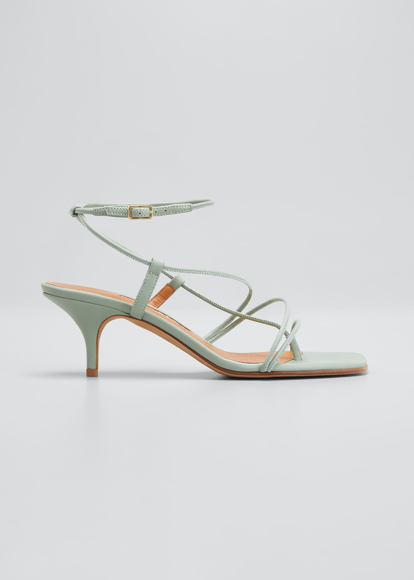 Image 1 of 3: 50mm Tobias Strappy Thong Sandals