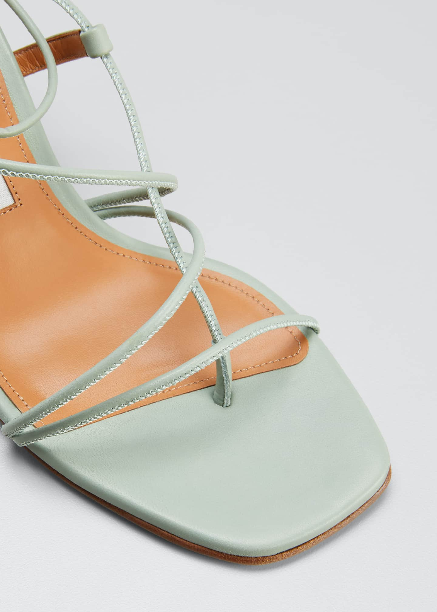 Image 3 of 3: 50mm Tobias Strappy Thong Sandals