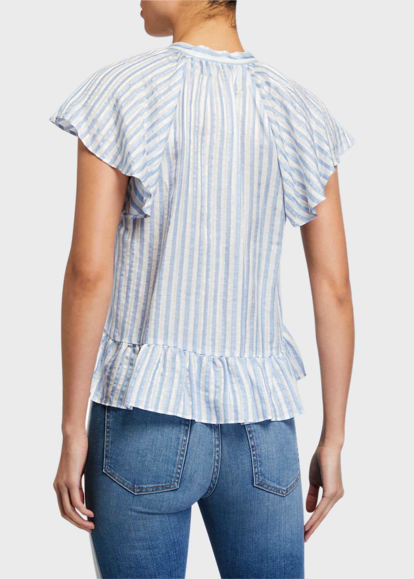 Image 2 of 2: Maple Striped Button-Down Top