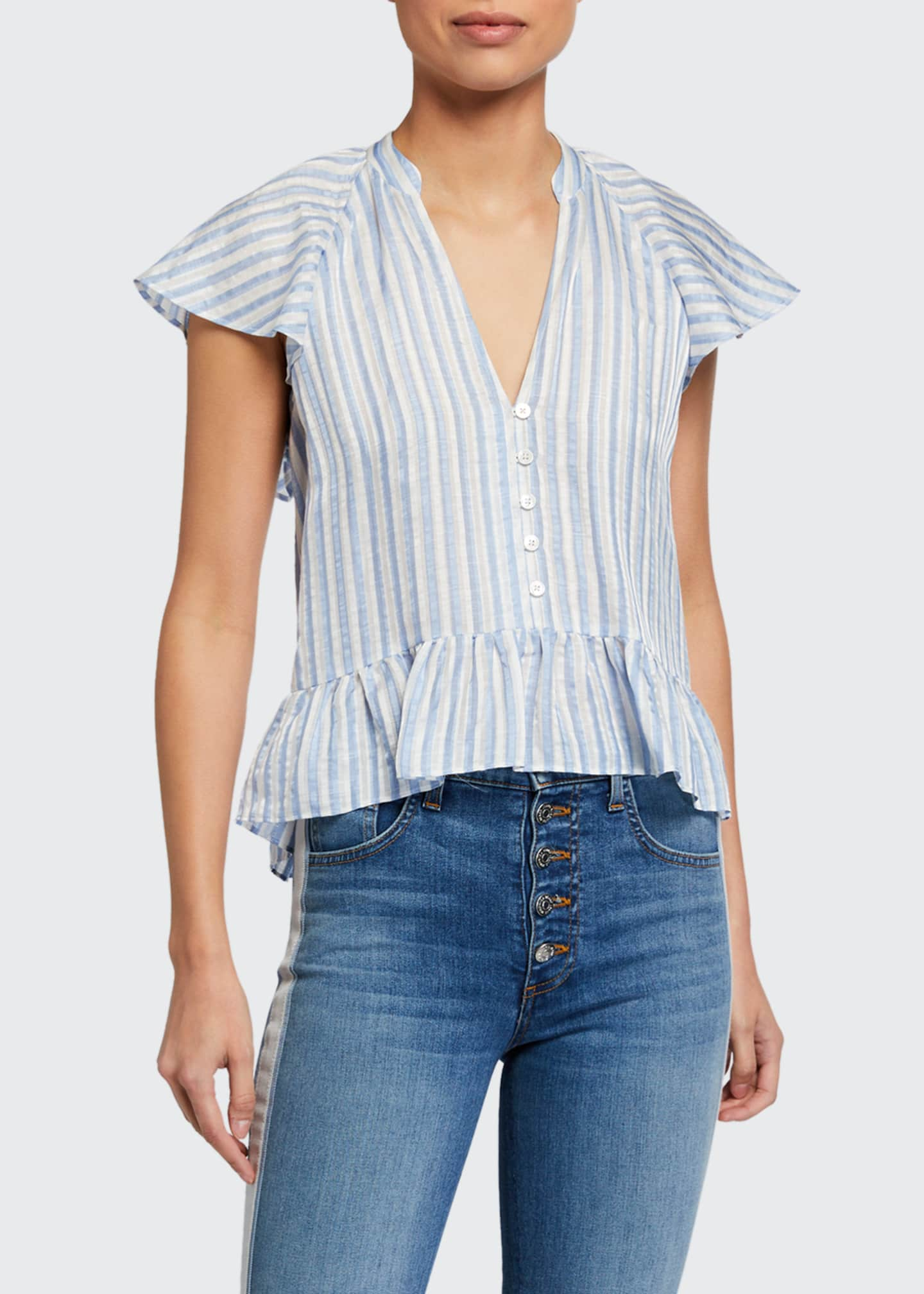 Image 1 of 2: Maple Striped Button-Down Top