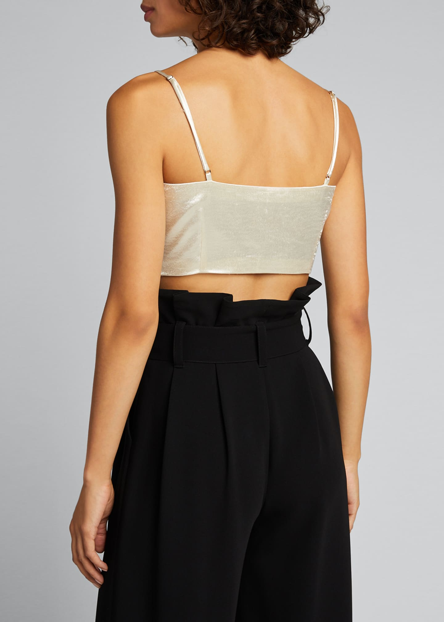Image 2 of 5: Nikki Cropped Satin Top