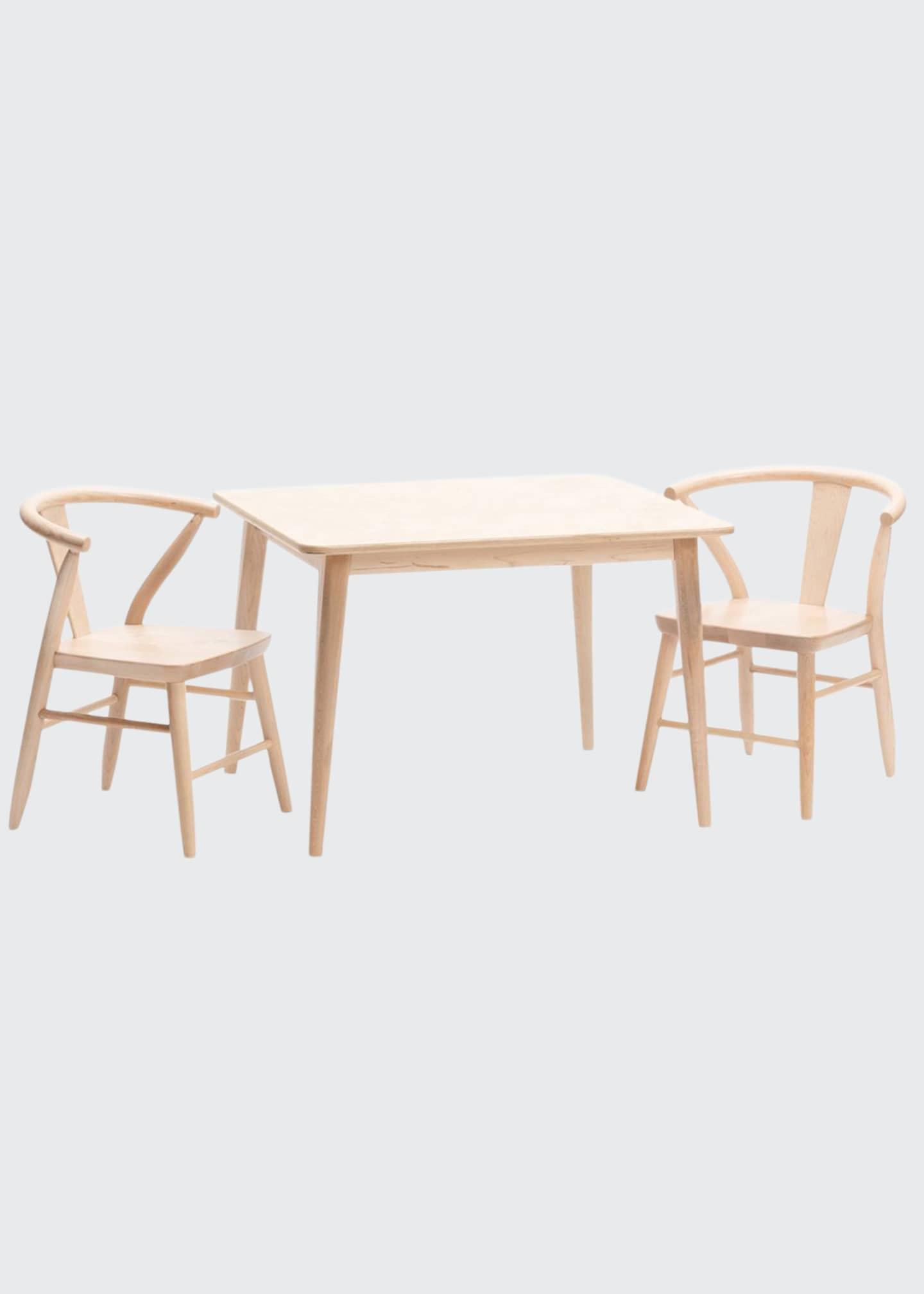 Milton & Goose Handmade Crescent Table & Chairs
