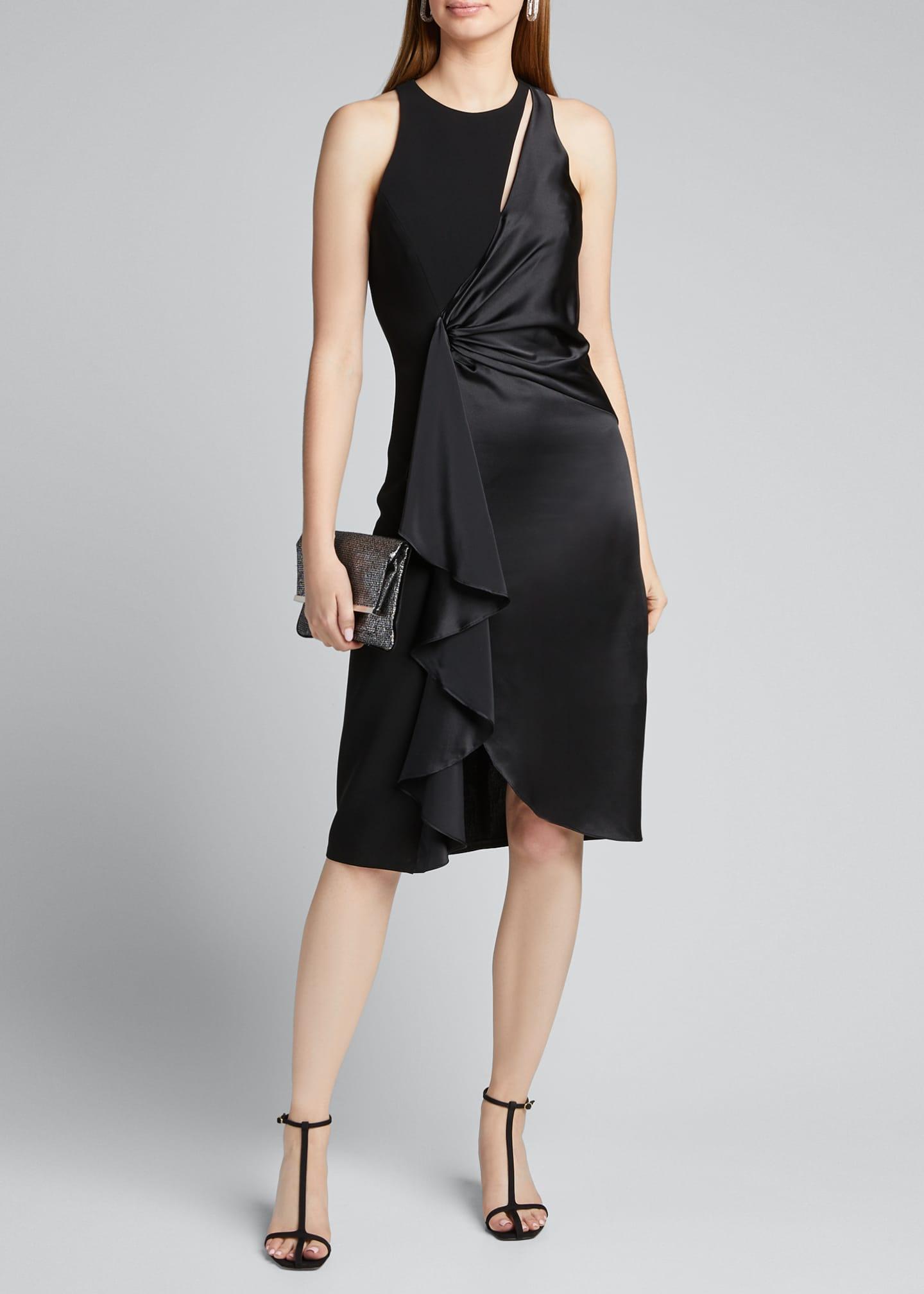 Clemency Drape Front Satin Combo Dress by Cinq A Sept