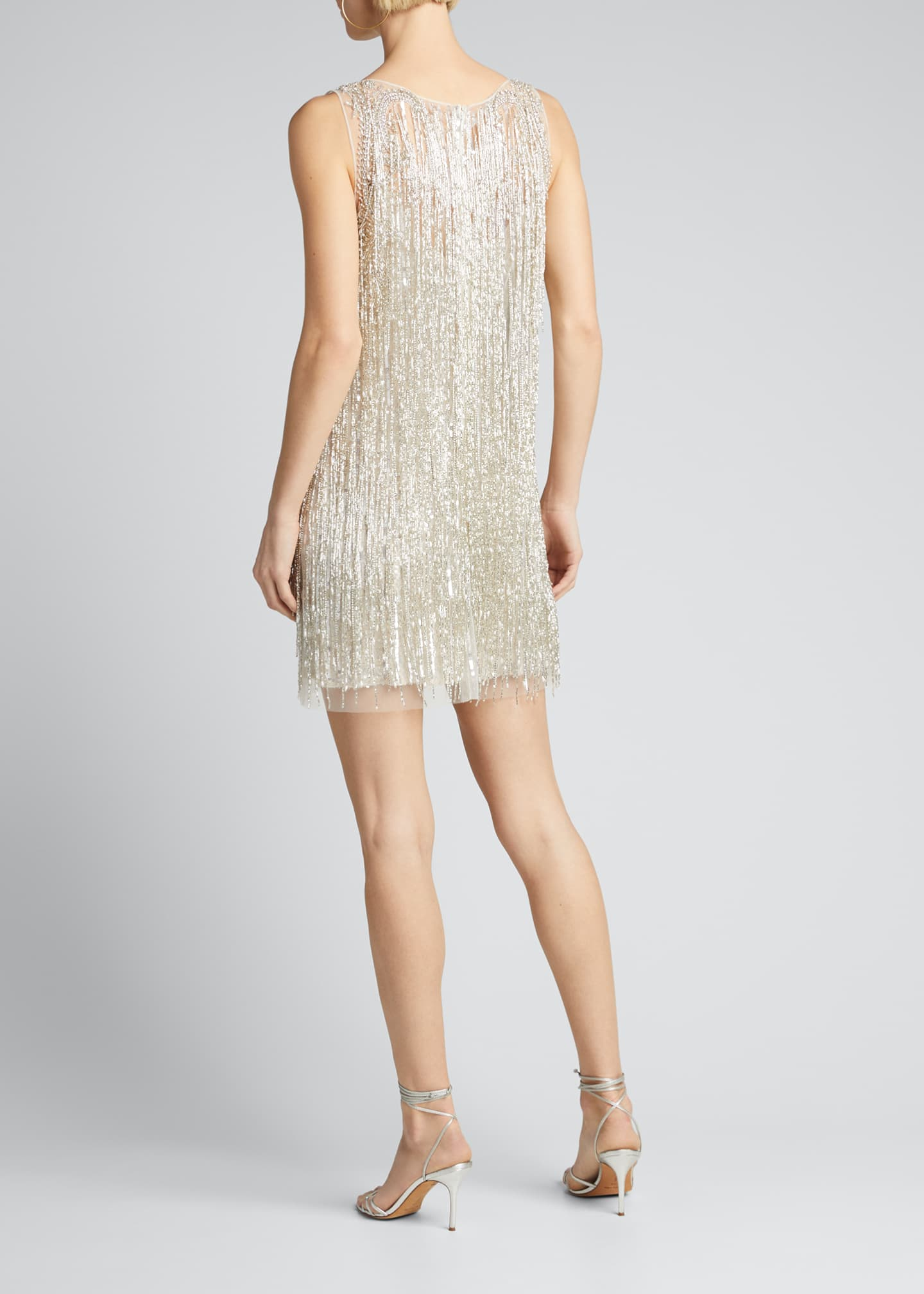 Image 2 of 5: Fringed Mini Cocktail Dress