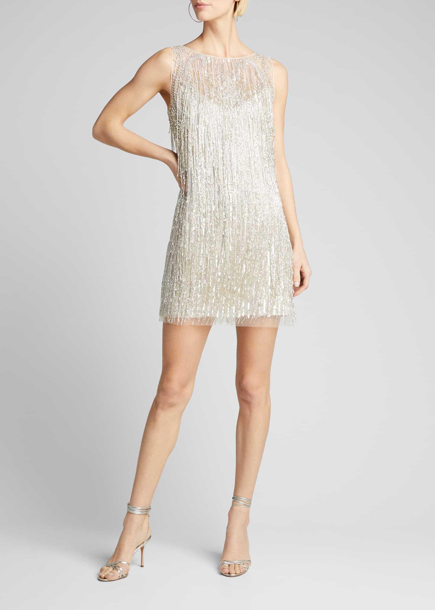 Image 3 of 5: Fringed Mini Cocktail Dress