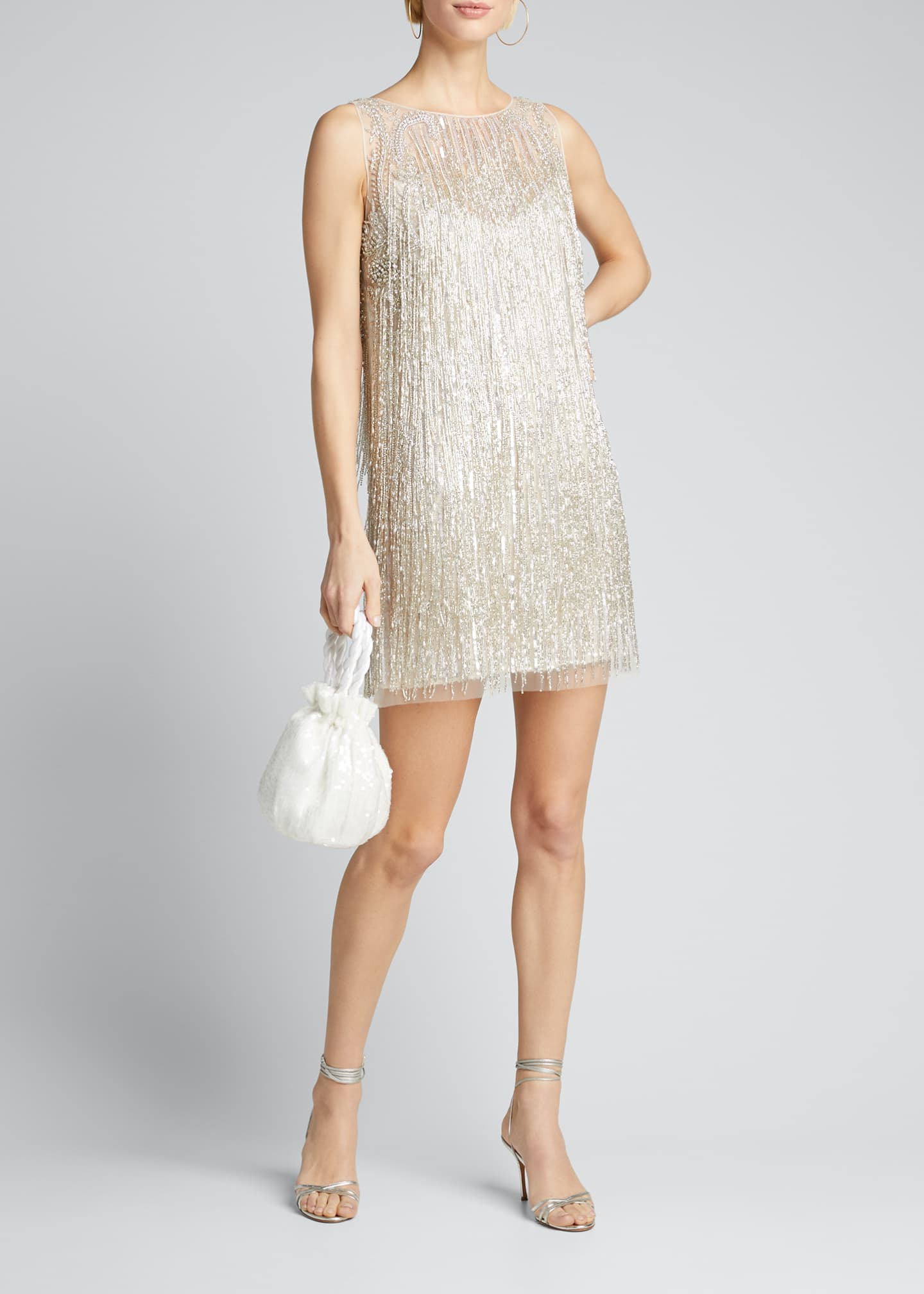 Image 1 of 5: Fringed Mini Cocktail Dress