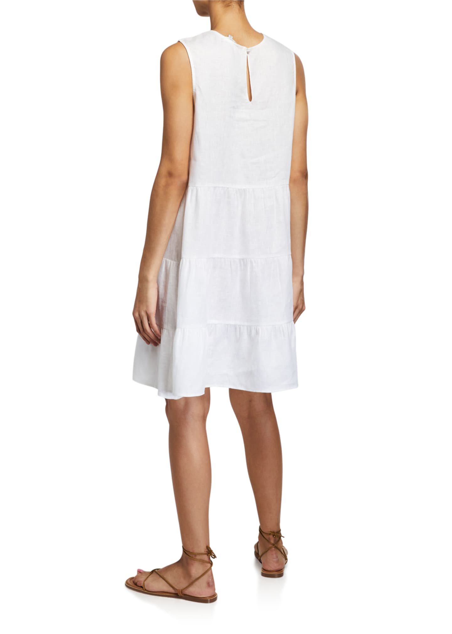 Image 2 of 2: Luce Sleeveless Dress w/ Embroidered Lace