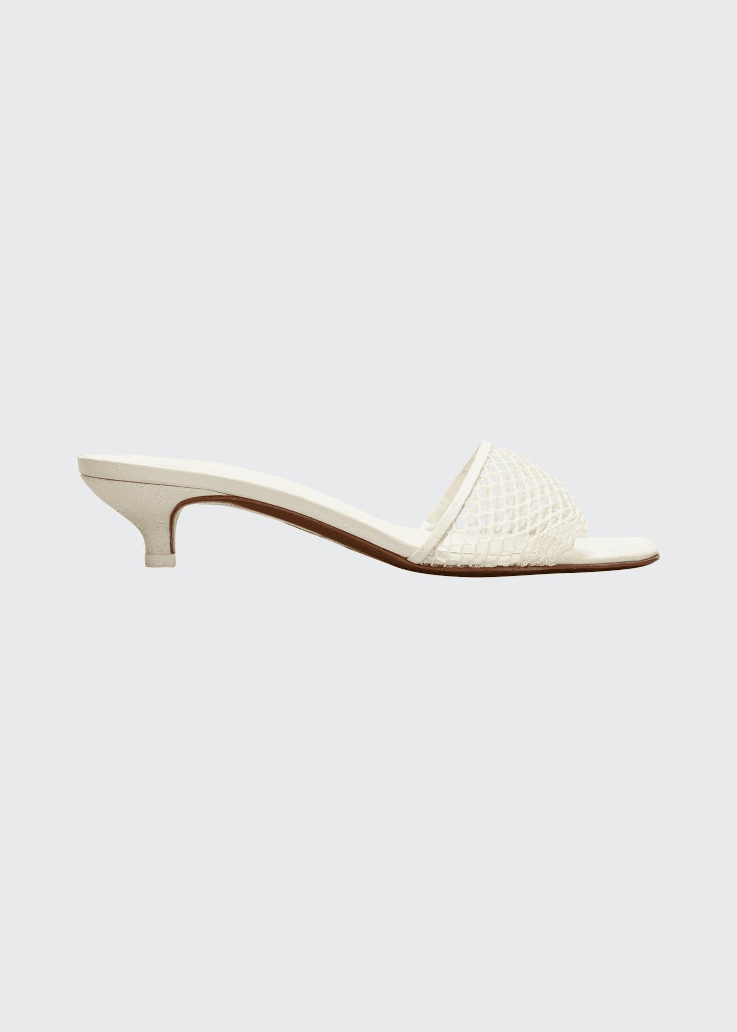 Kitten Heel Slide Sandals