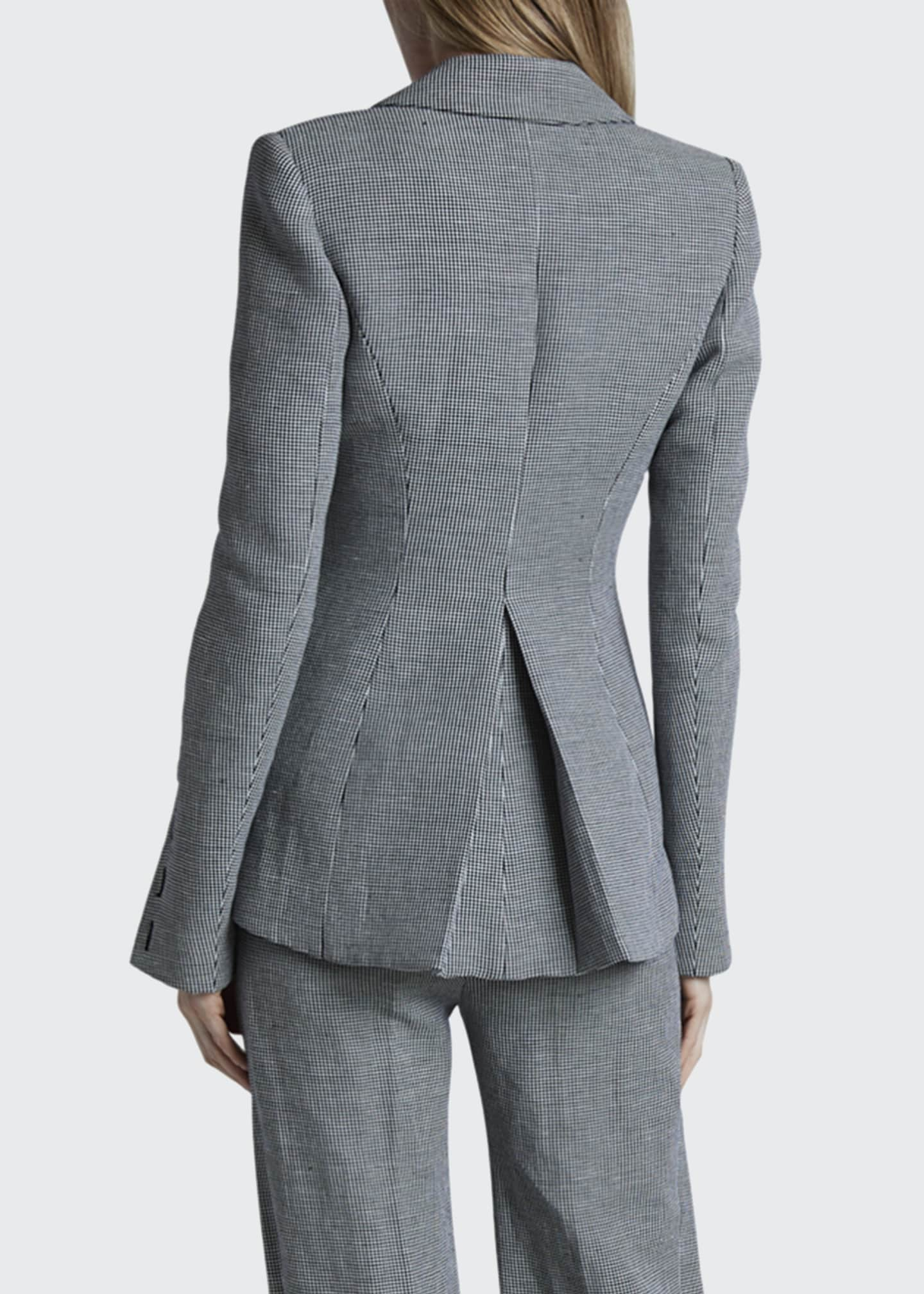 Image 2 of 2: Longview Checked Linen Blazer Jacket