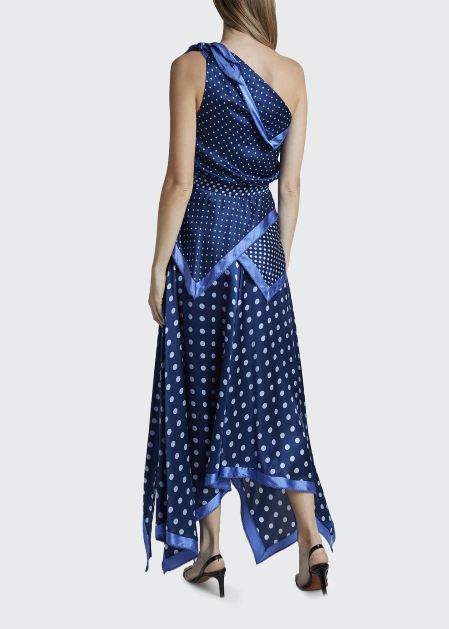 Image 3 of 3: Petrel Polka-Dotted Silk Handkerchief Dress