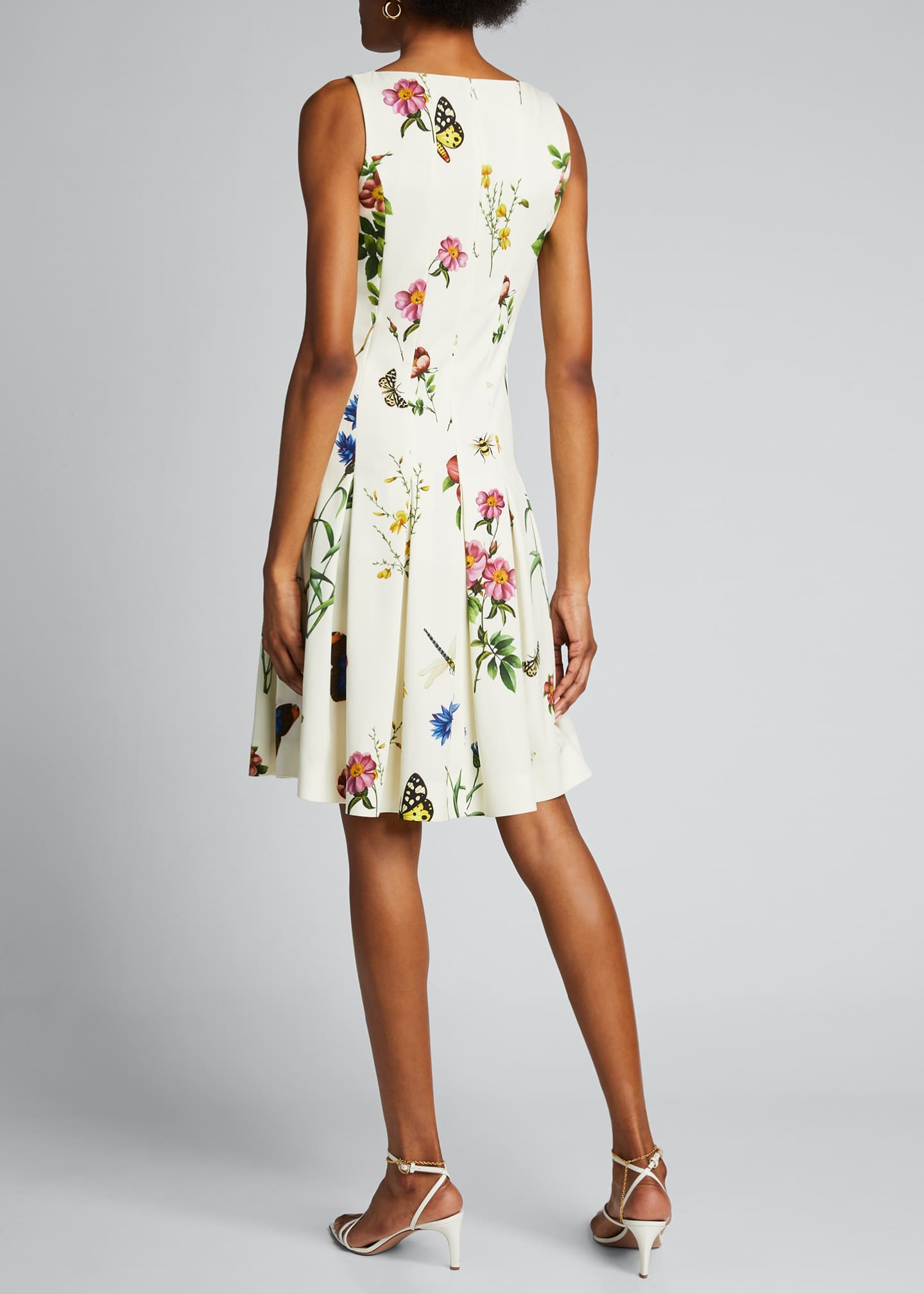 Image 2 of 5: Floral Print Pleated Dress