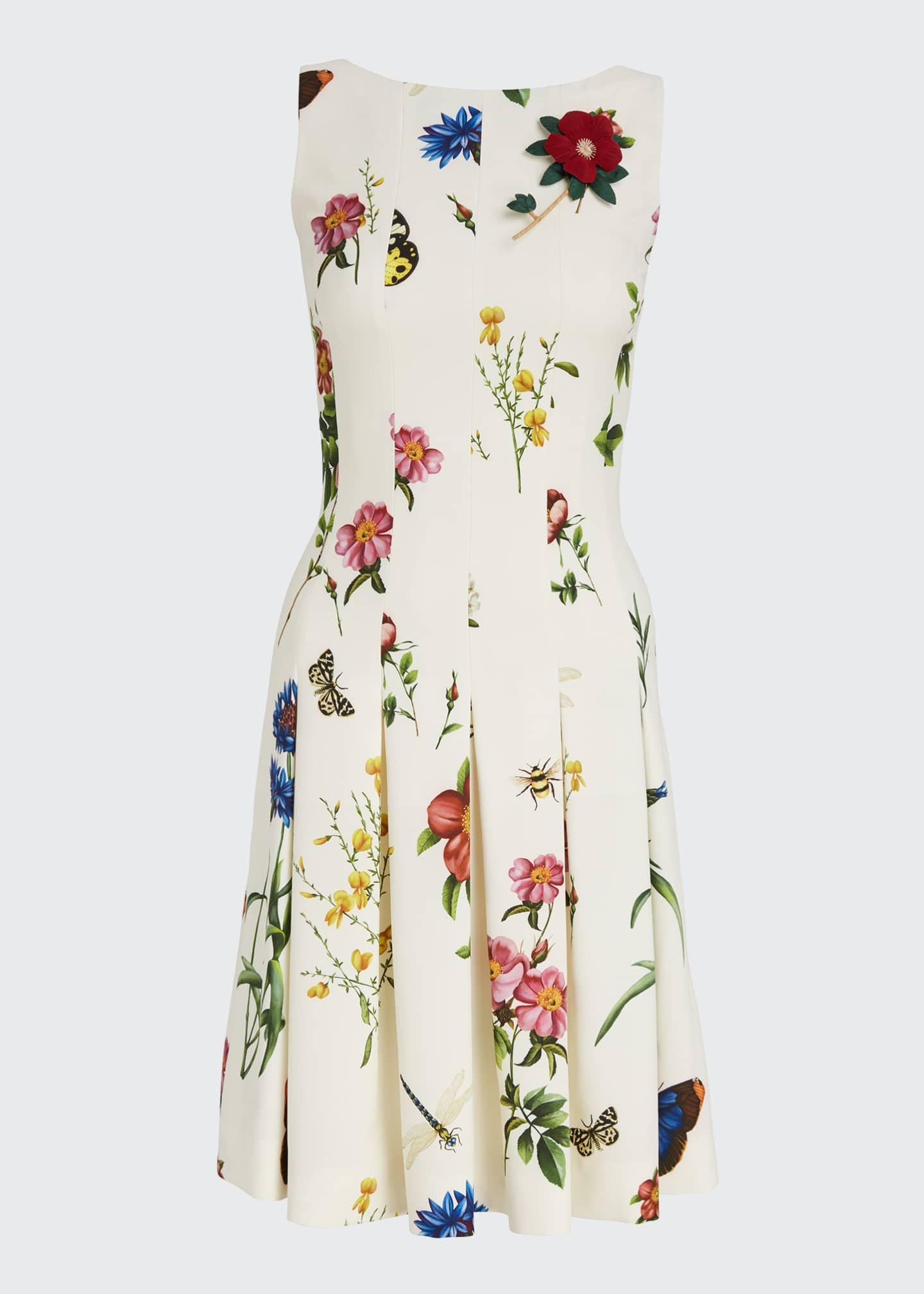 Image 5 of 5: Floral Print Pleated Dress