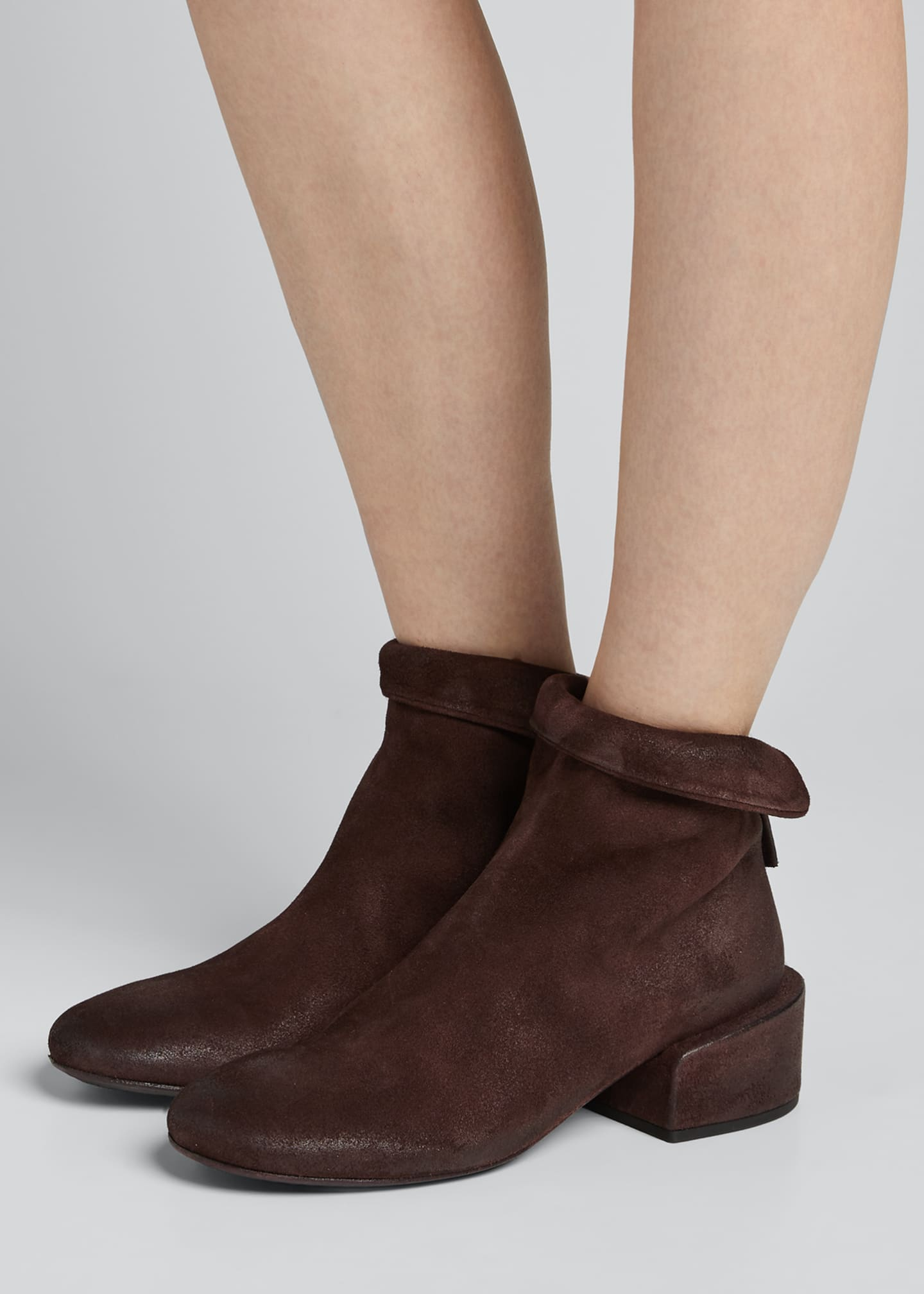 Image 2 of 5: Buccia Suede Zip Booties