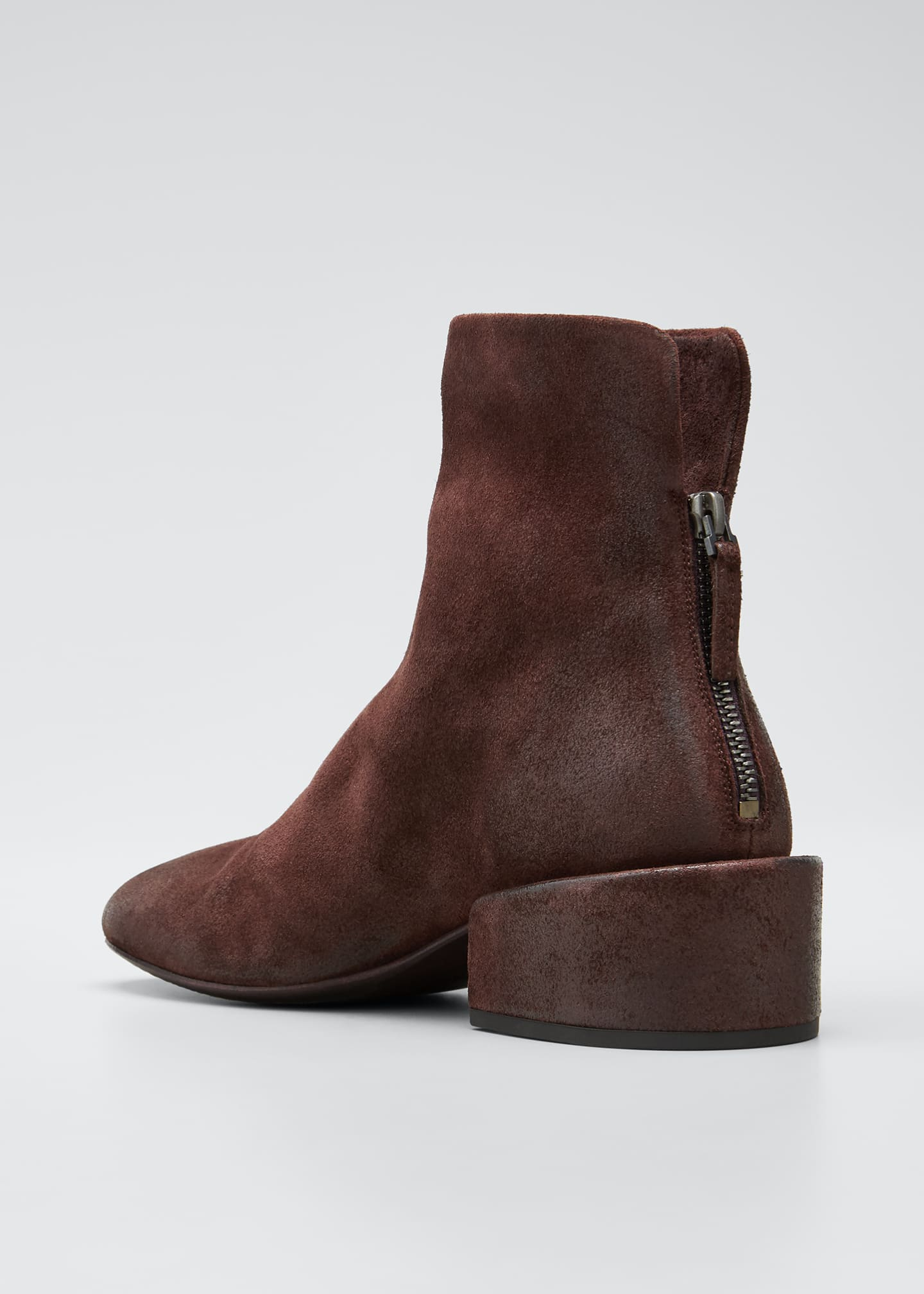 Image 4 of 5: Buccia Suede Zip Booties