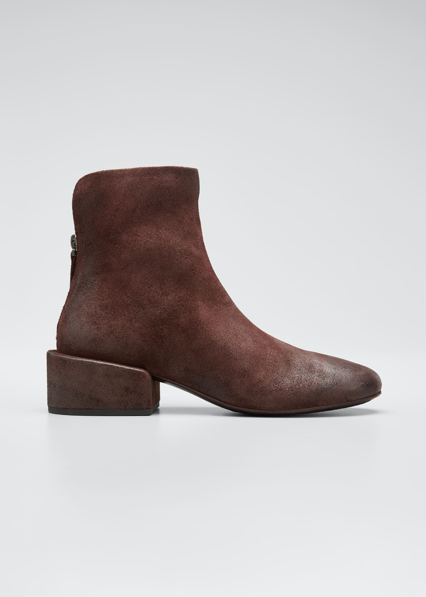 Image 1 of 5: Buccia Suede Zip Booties