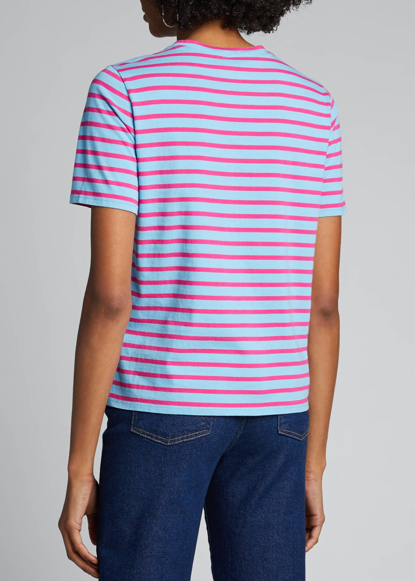 Image 2 of 5: The Modern Short-Sleeve Striped Top