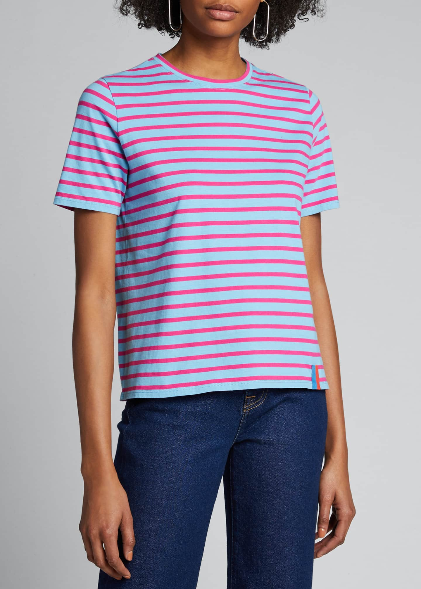 Image 3 of 5: The Modern Short-Sleeve Striped Top