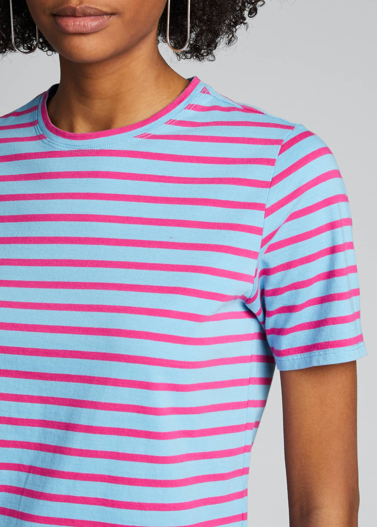 Image 4 of 5: The Modern Short-Sleeve Striped Top
