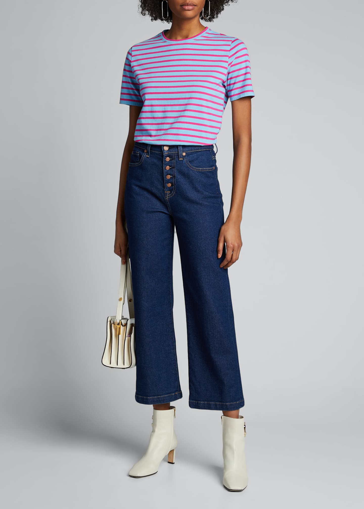 Image 1 of 5: The Modern Short-Sleeve Striped Top