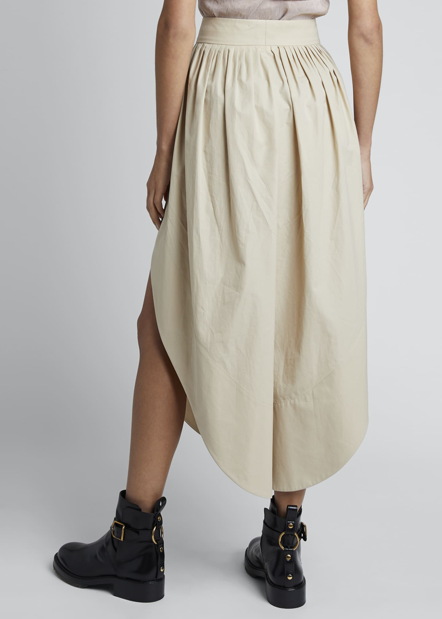 Image 2 of 3: Cotton Poplin High-Waist Culotte Pants