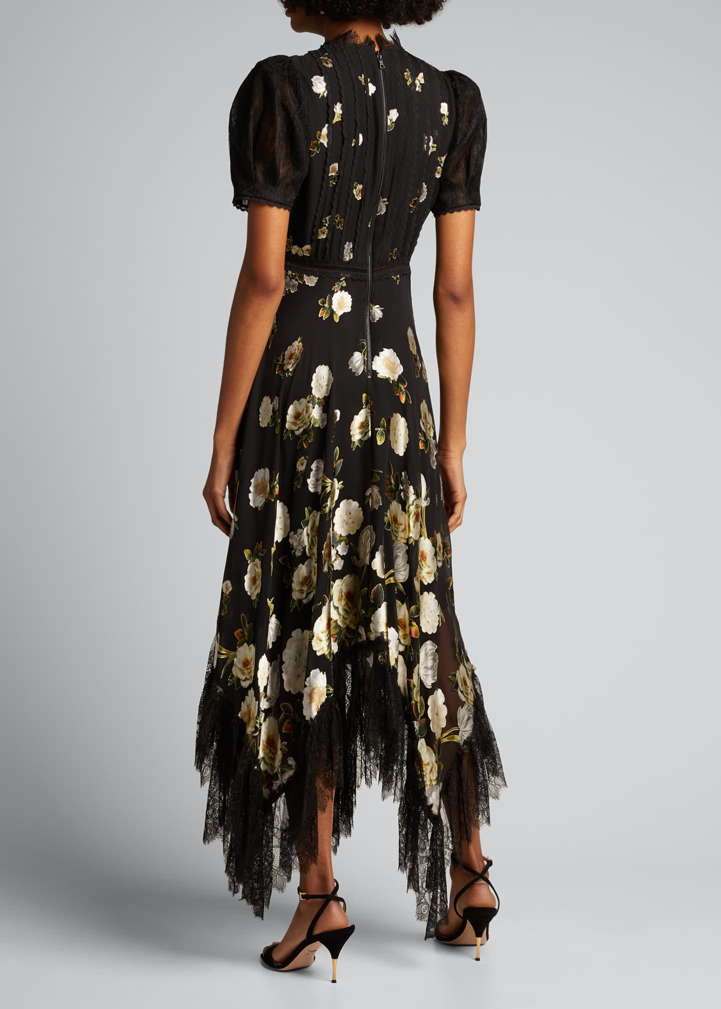 Image 2 of 5: Bettina Floral Handkerchief Dress