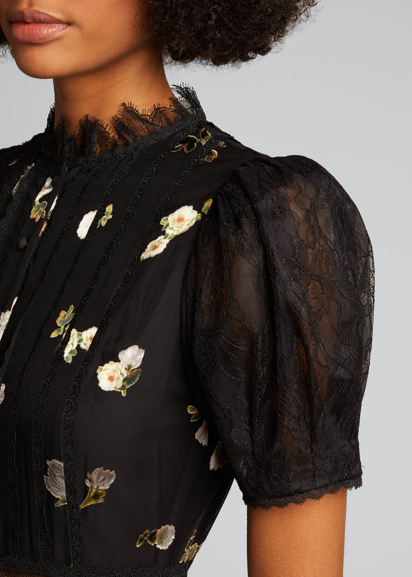Image 4 of 5: Bettina Floral Handkerchief Dress